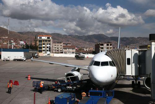 Aeropuerto de Cusco. Foto: ANDINA/Carlos Lezama