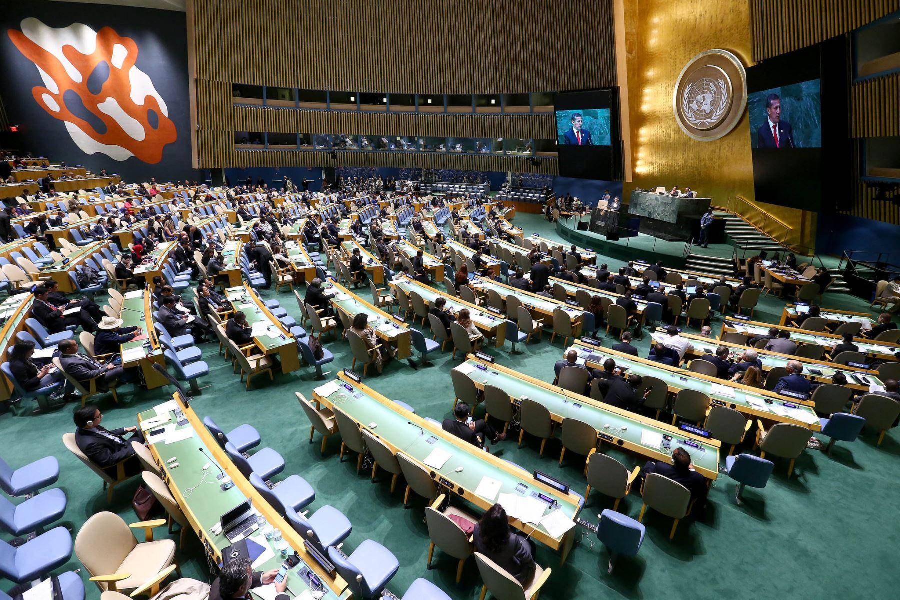 NUEVA YORK, SETIEMBRE 25.Intervención del Presidente de la República, Ollanta Humala Tasso, en la 69 Asamblea General de las Naciones Unidas.Foto:ANDINA/Prensa Presidencia