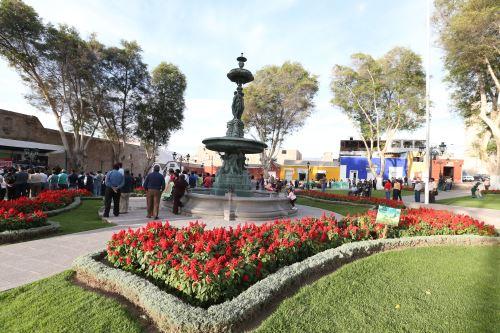 Plaza de Armas de la ciudad de Moquegua. ANDINA/Vidal Tarqui