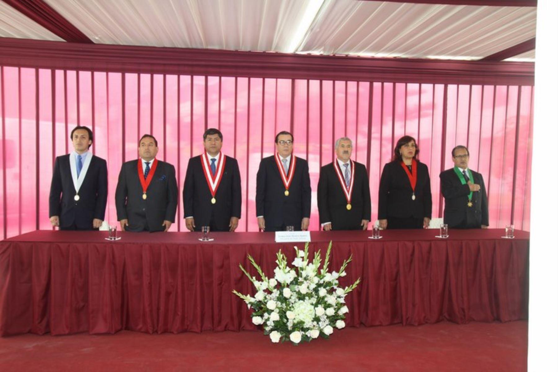 Ceremonia de puesta en funcionamiento de Corte Superior de Justicia de Ventanilla-Lima Noroeste, la segunda sede judicial modelo del país.