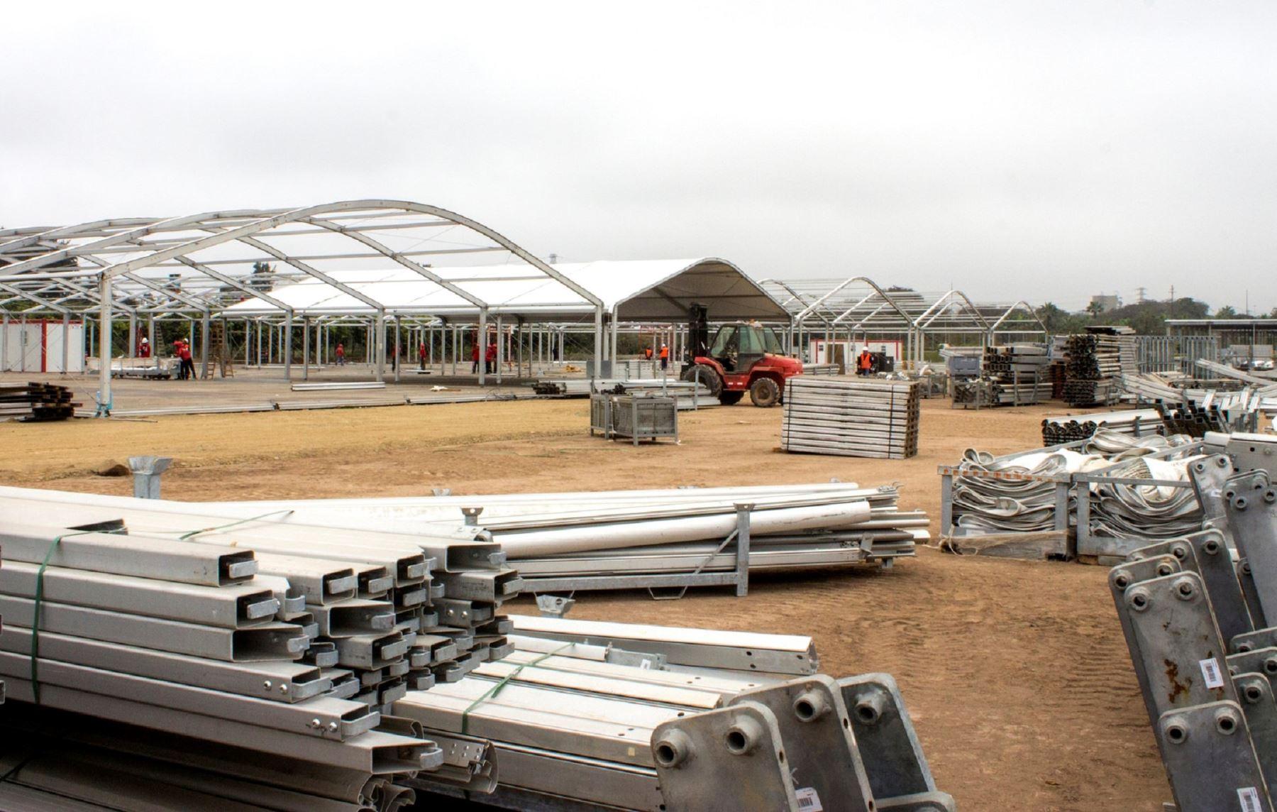 Presidente Ollanta Humala inspecciona avances de las instalaciones de la COP 20 en el Cuartel General del Ejército