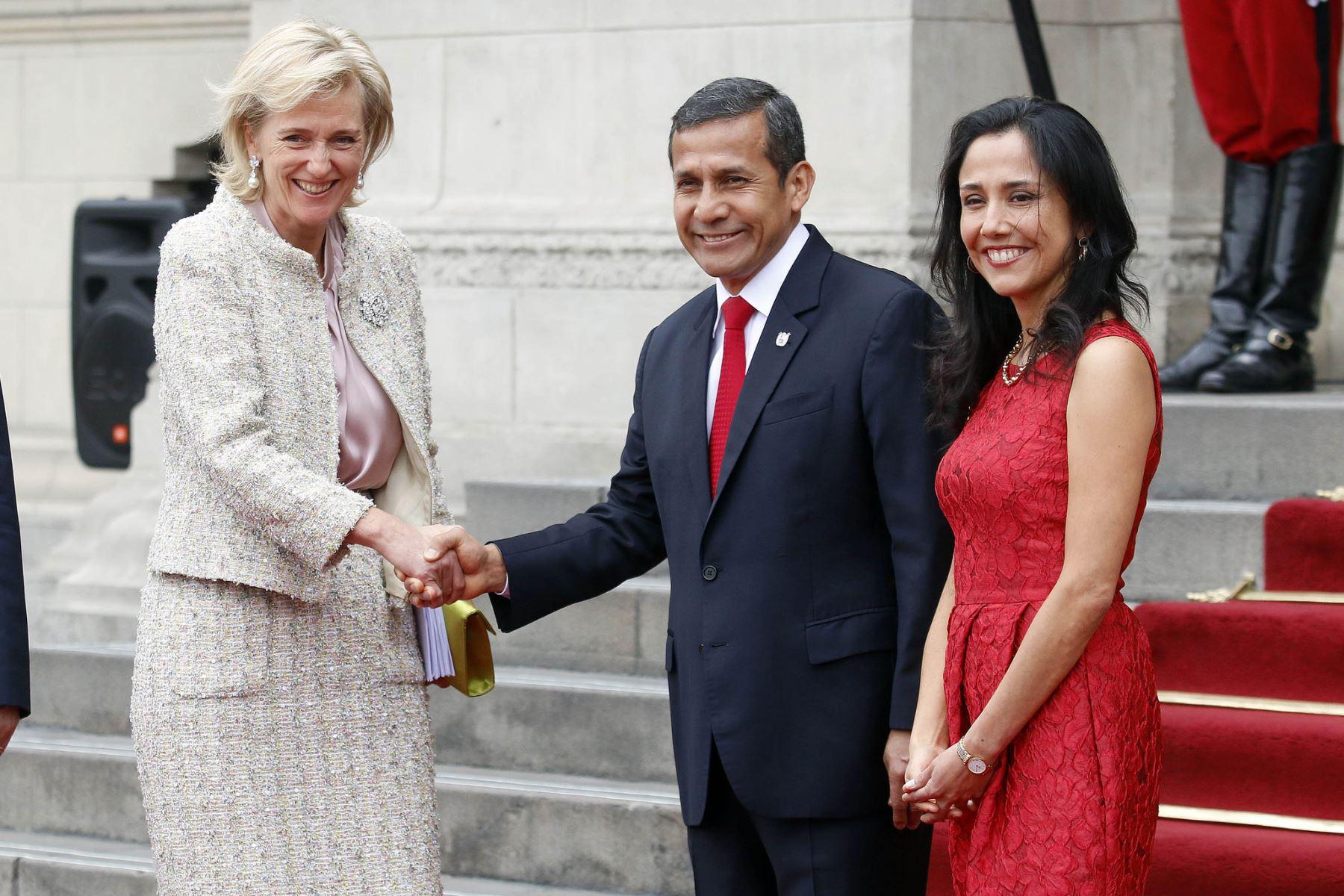 Presidente Humala recibe en Palacio de Gobierno a princesa Astrid de Bélgica