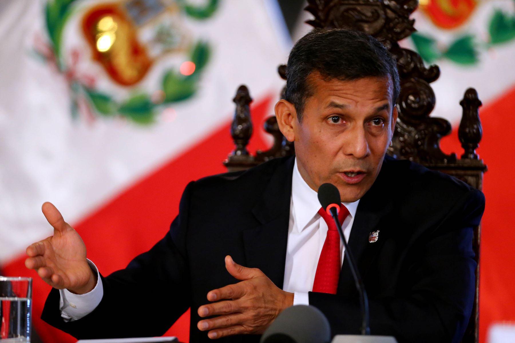 Conferencia del presidente Ollanta Humala con Prensa Extranjera.Foto: ANDINA/Prensa Presidencia