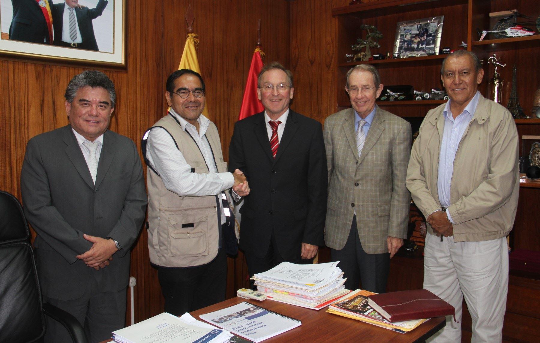 Embajador de Alemania en el Perú, Jörg Ranau, se reunió con autoridades regionales de Lambayeque.
