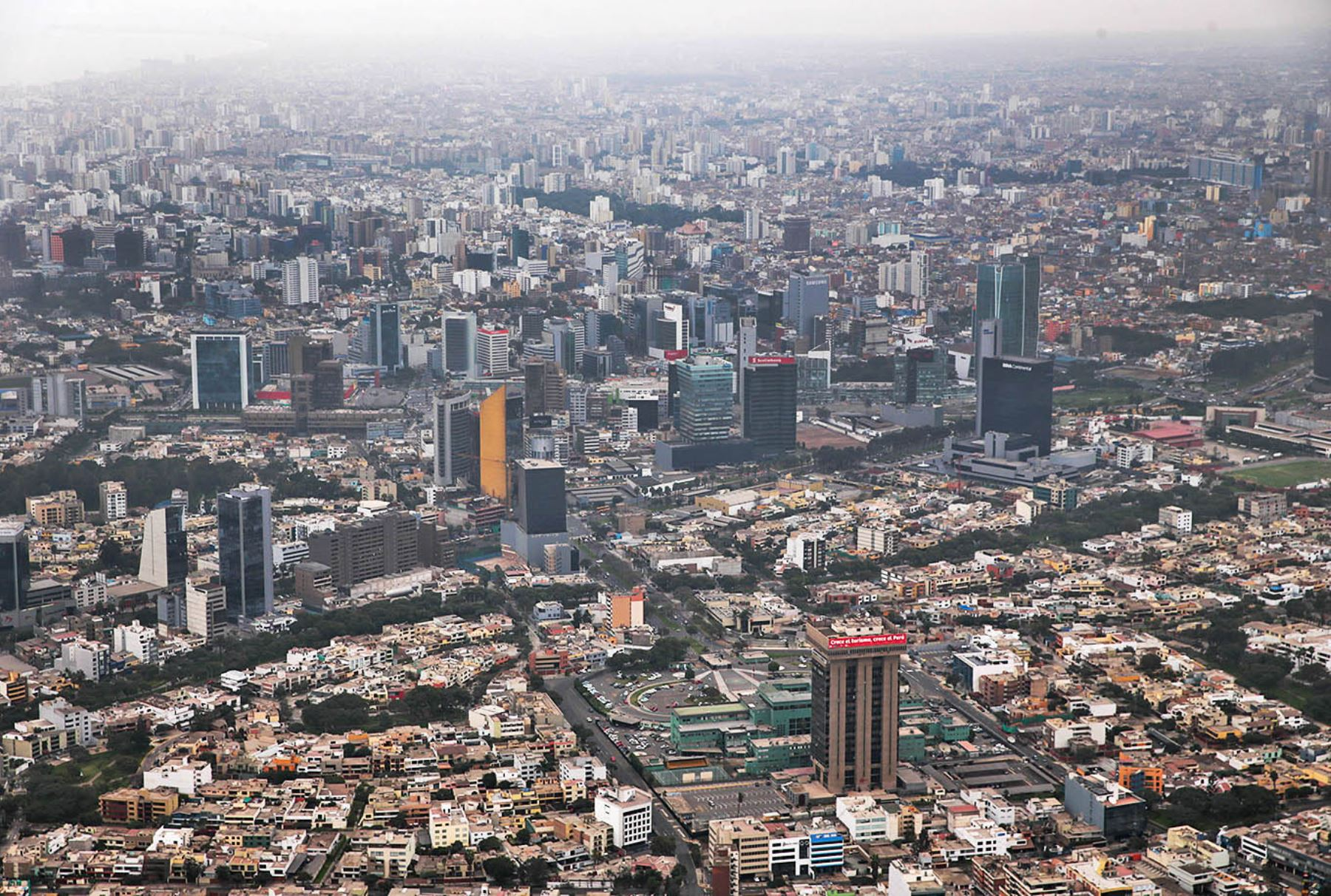 Aerial view of Lima. Photo: ANDINA
