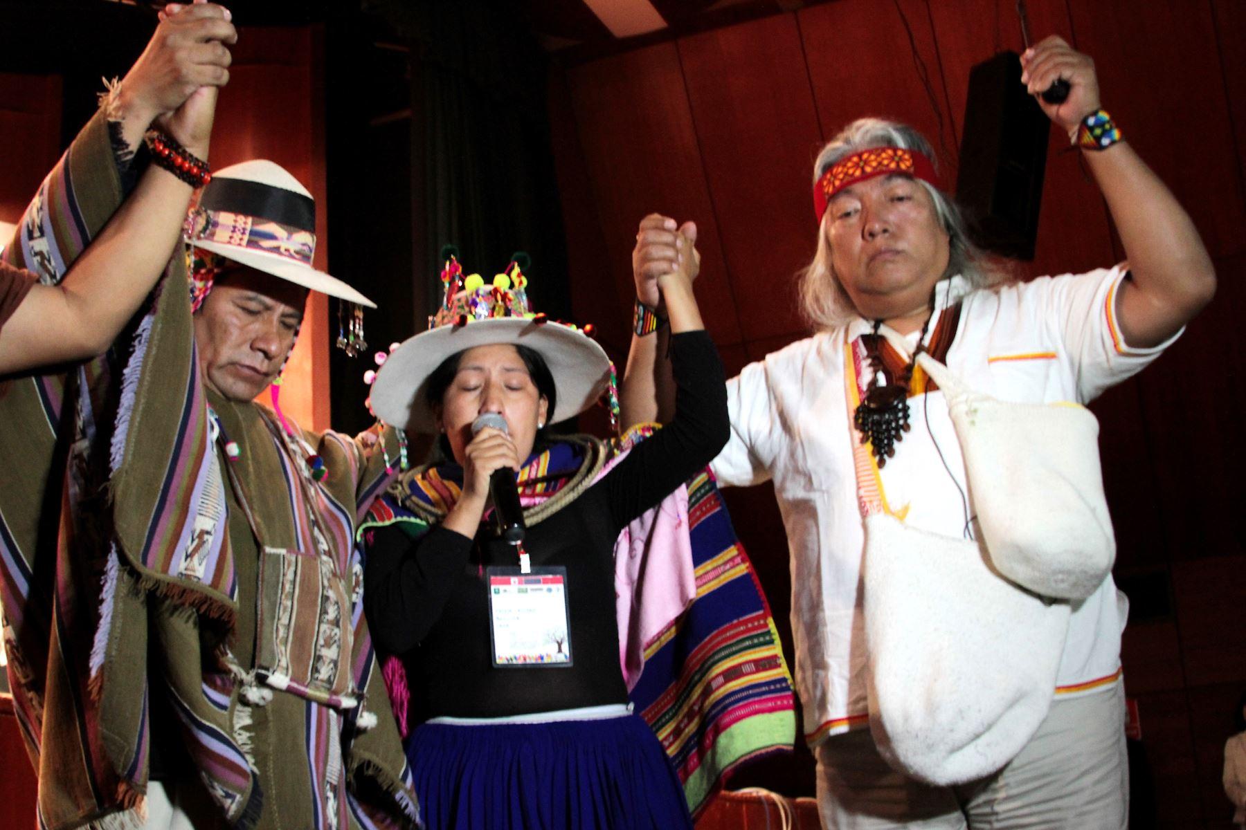 Cop20 Lima Conferencia Bienvenida Comunidades Indígenas.Foto: ANDINA/Difusión