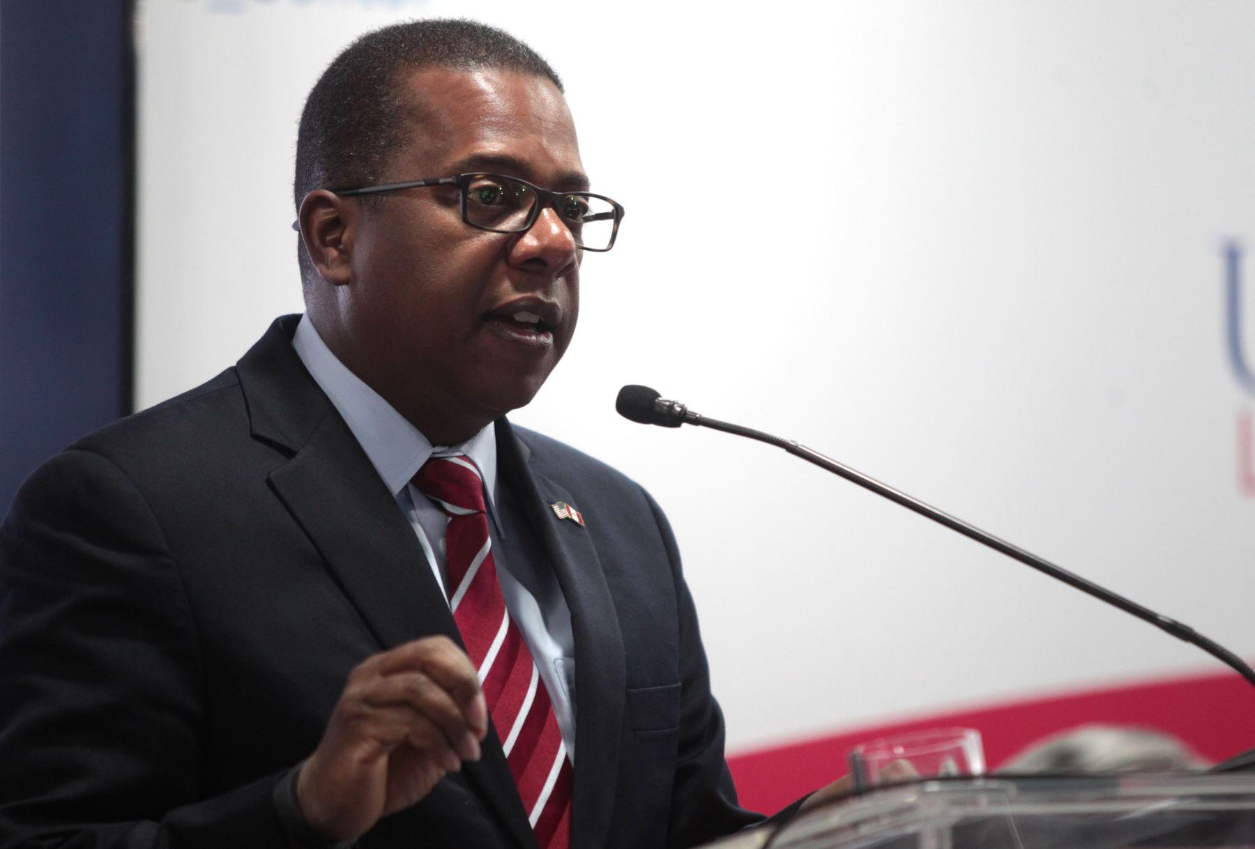 Embajador de los Estados Unidos de Norteamerica, Brian Nichols,. Foto: ANDINA/Melina Mejía