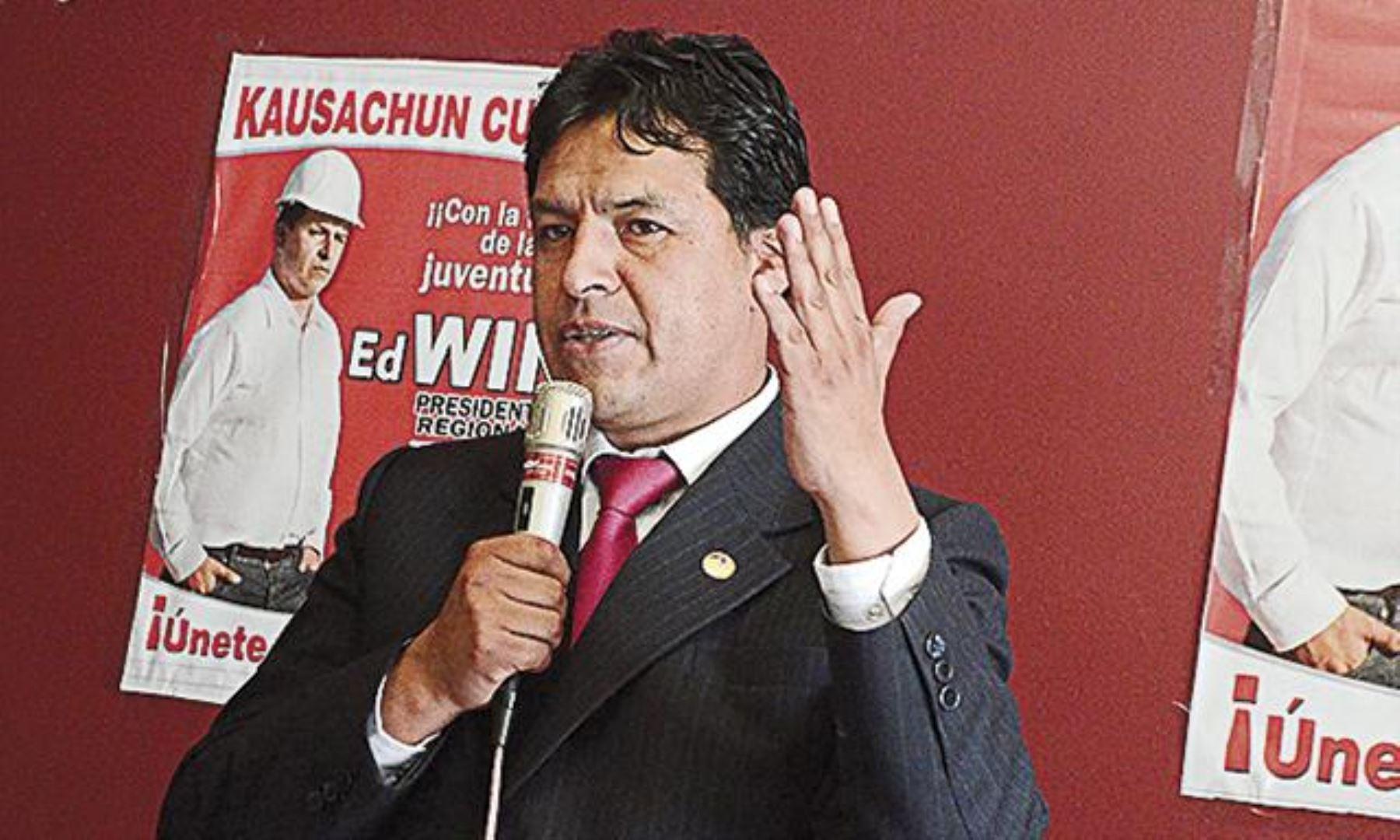 Edwin Licona es el virtual presidente regional de Cusco. Foto: ANDINA/Internet.