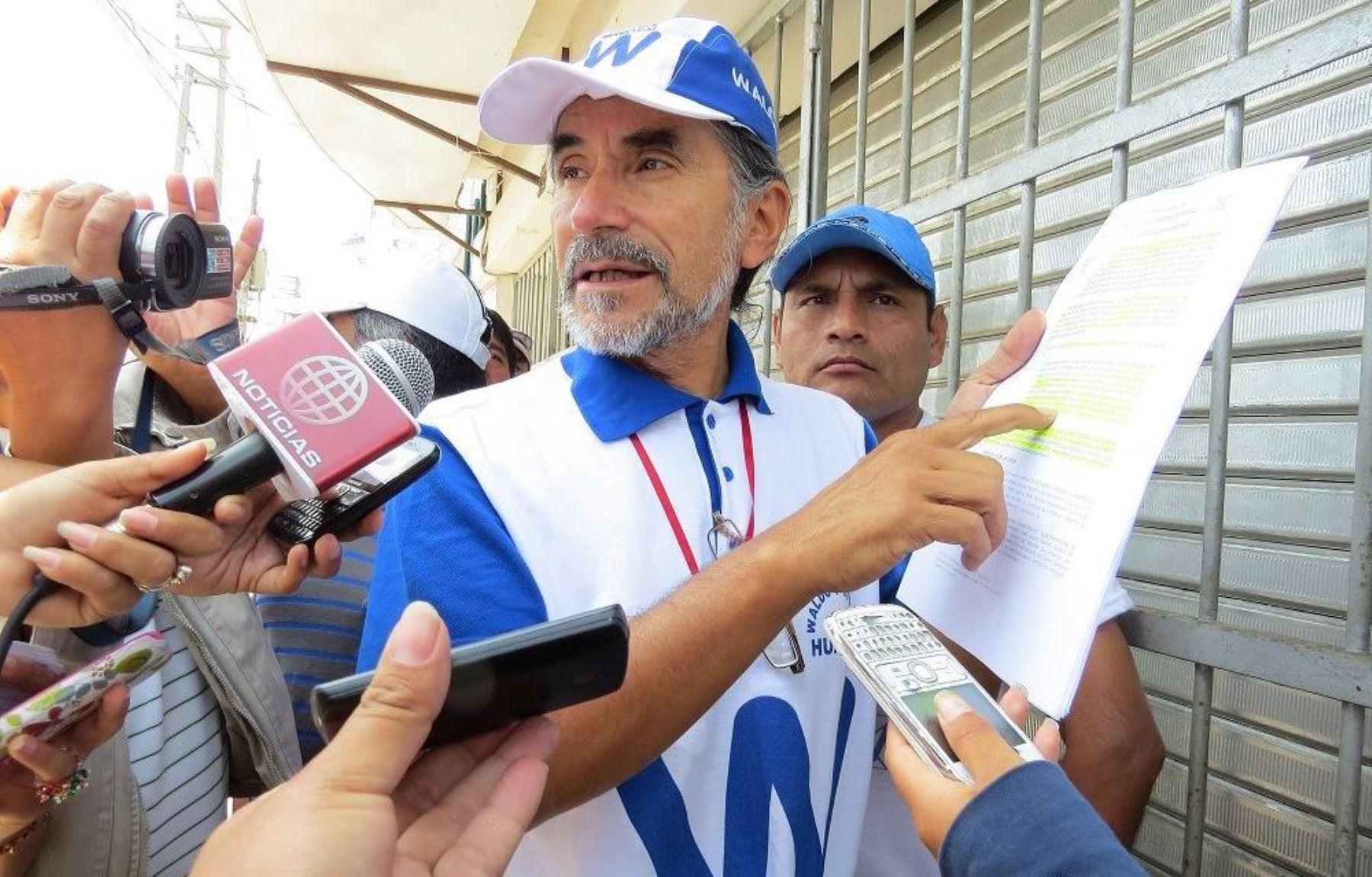 Waldo Ríos es el virtual presidente regional electo de Áncash de acuerdo a resultados de la ONPE.