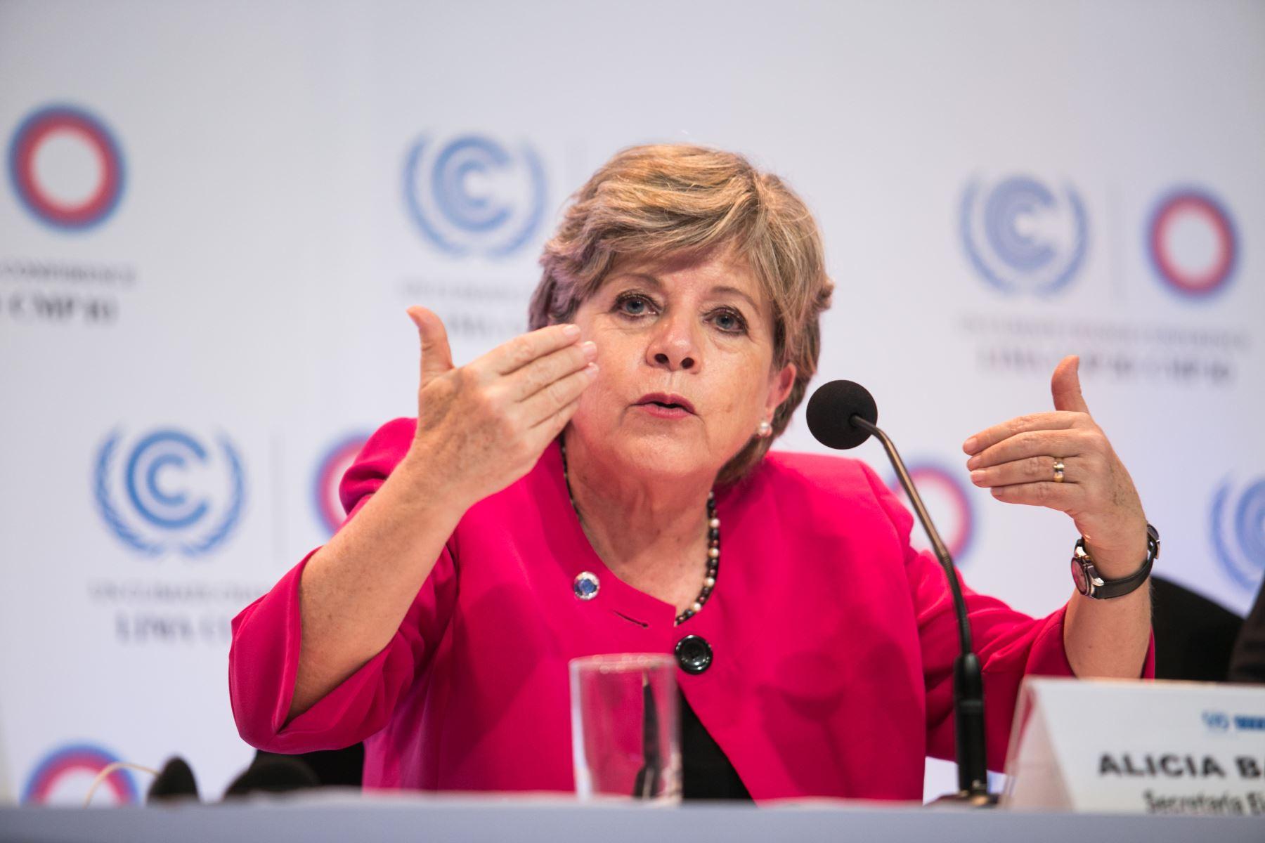 Secretaria ejecutiva de la Cepal, Alicia Bárcena. ANDINA/Difusión