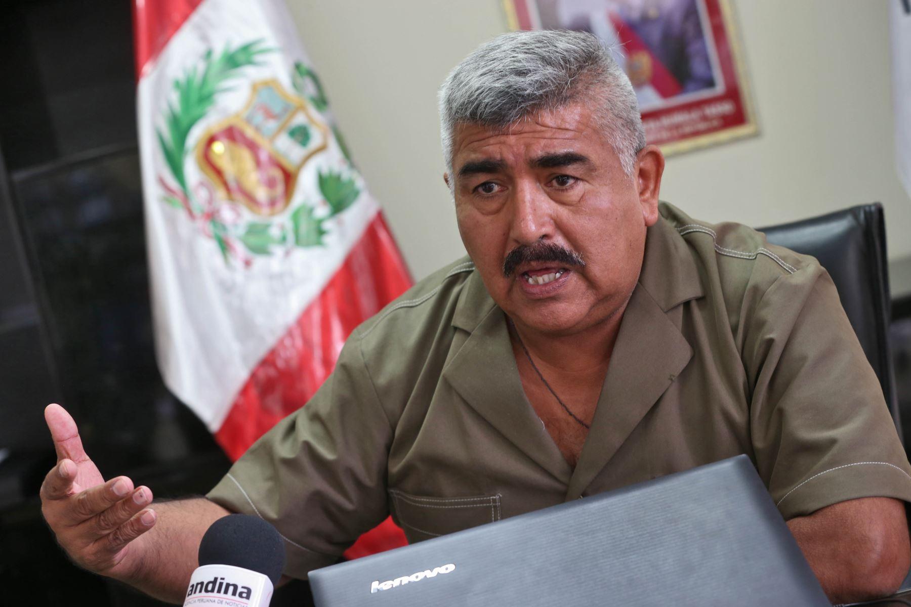 Superintendente de Migraciones, general Edwin Palomino Vega. Foto: ANDINA/Oscar Farje