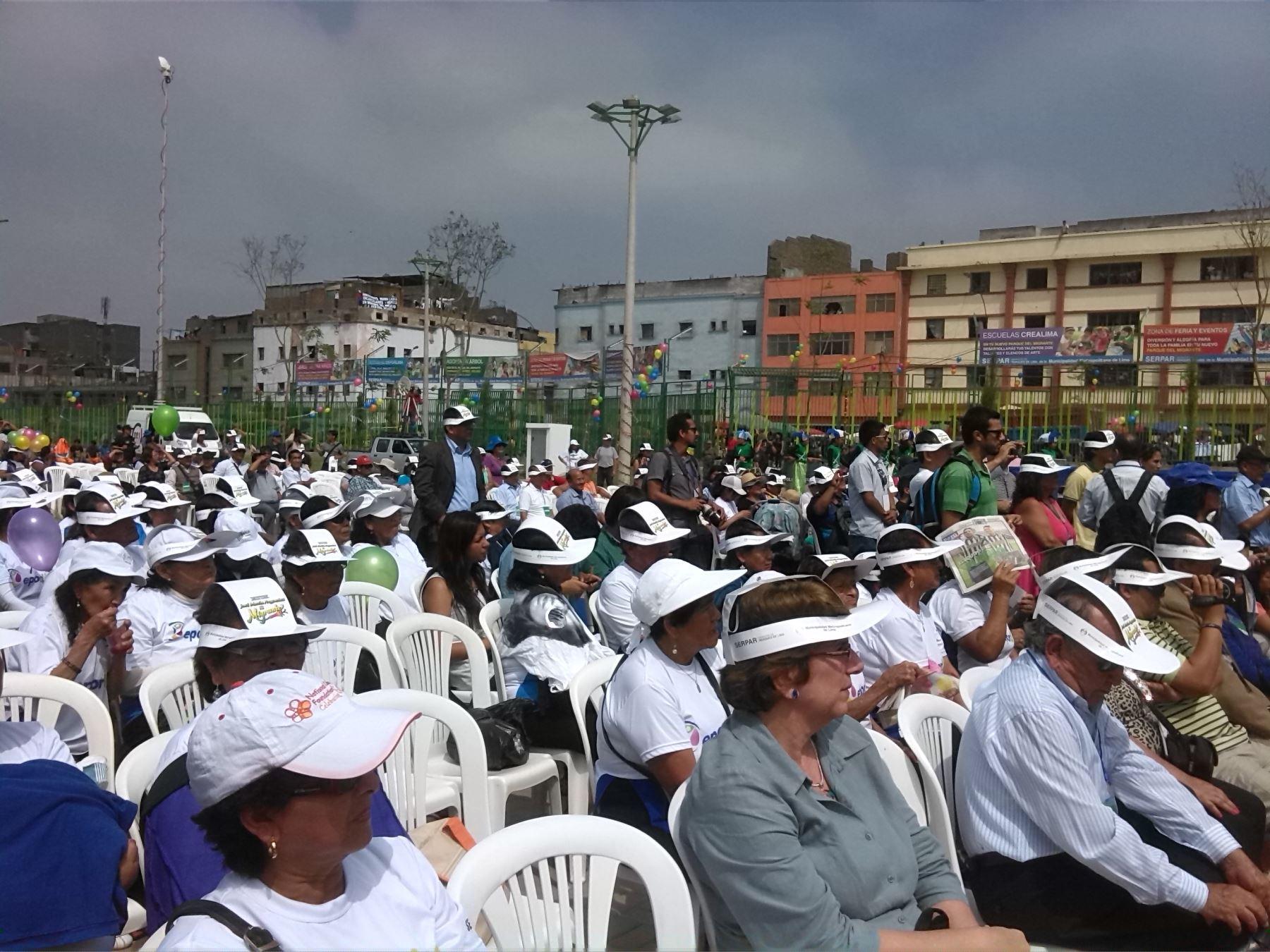 Inauguración del Parque El Migrante José María Arguedas.