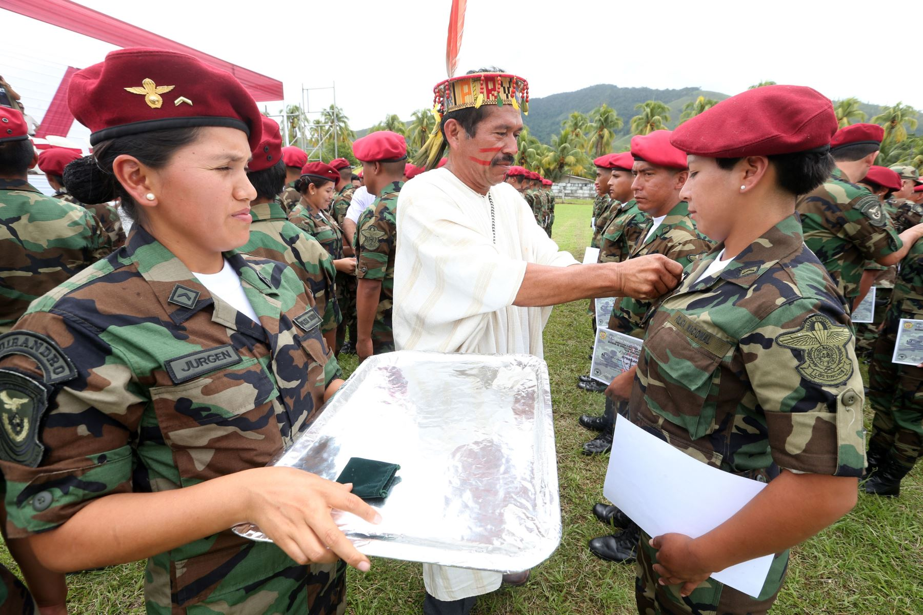 Unos 146 Suboficiales de la PNP se graduaron al culminar curso de Sinchis para combatir al terrorismo y narcotráfico. ANDINA/Vidal Tarqui