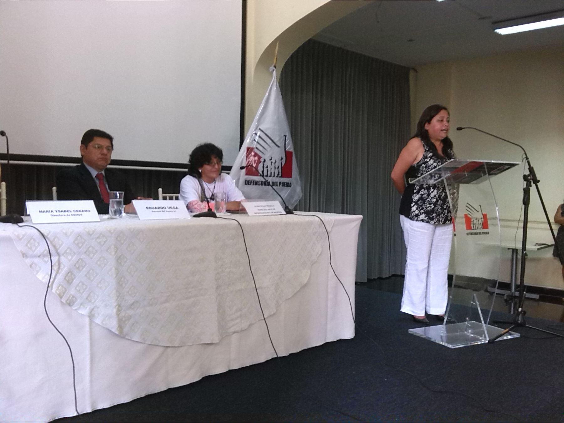Diálogo para acceso a la justicia de victimas de violación sexual - Defensoría del Pueblo