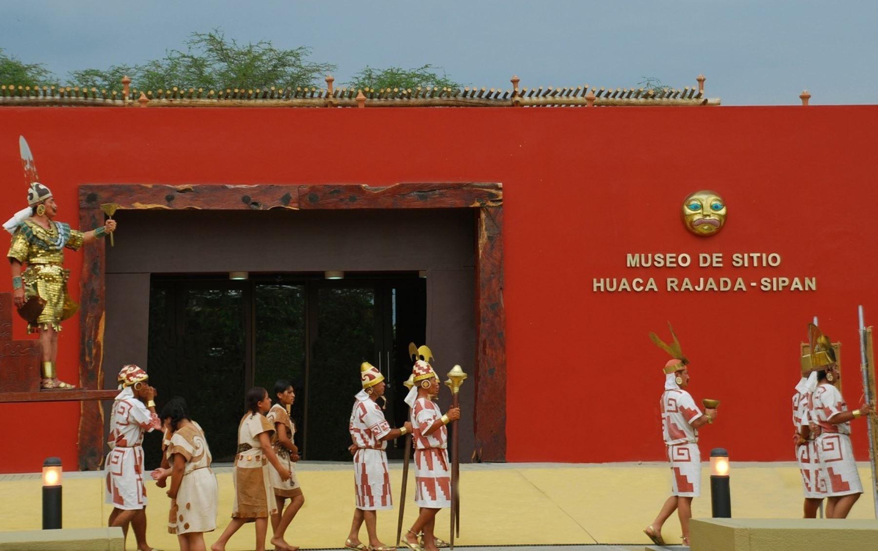 El museo de sitio Huaca Rajada Sipán cumple hoy su sexto aniversario de creación. FOTO: ANDINA