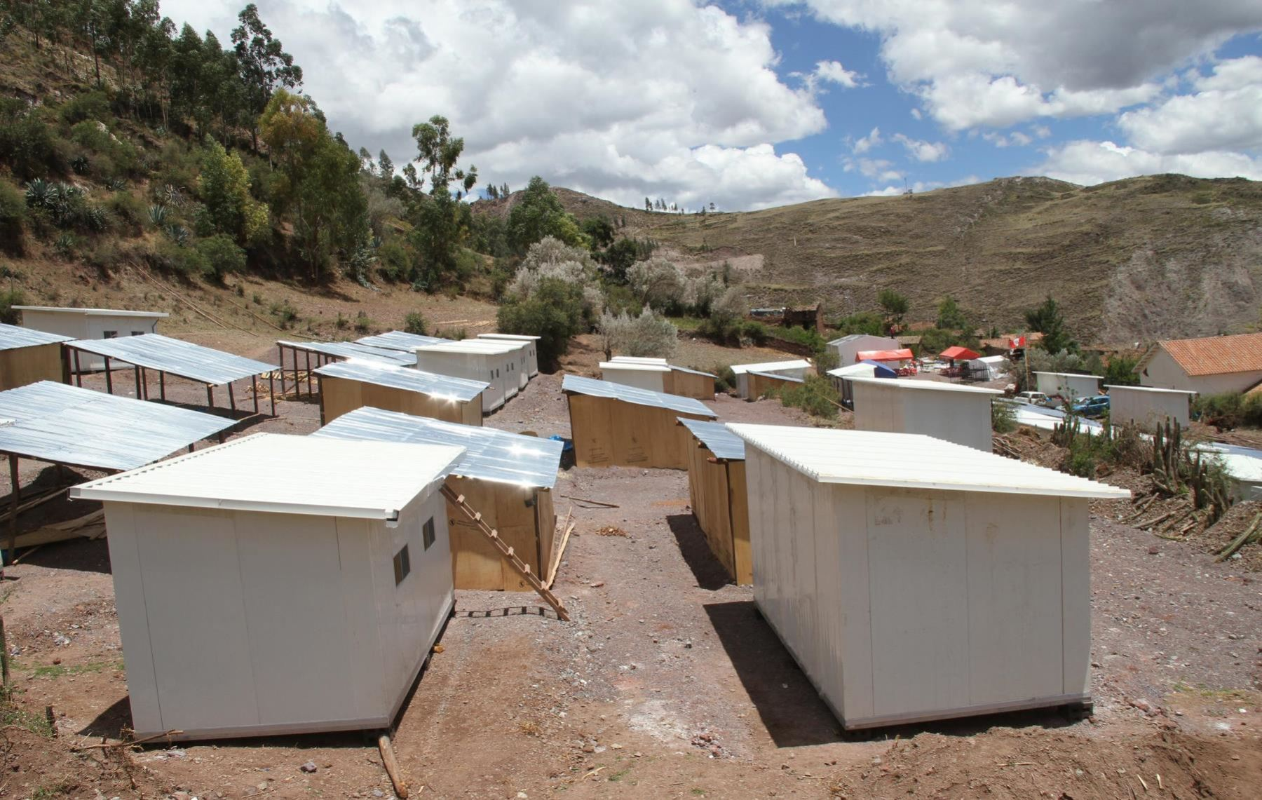 Temporary Houses Distributed In Areas Affected By Natural