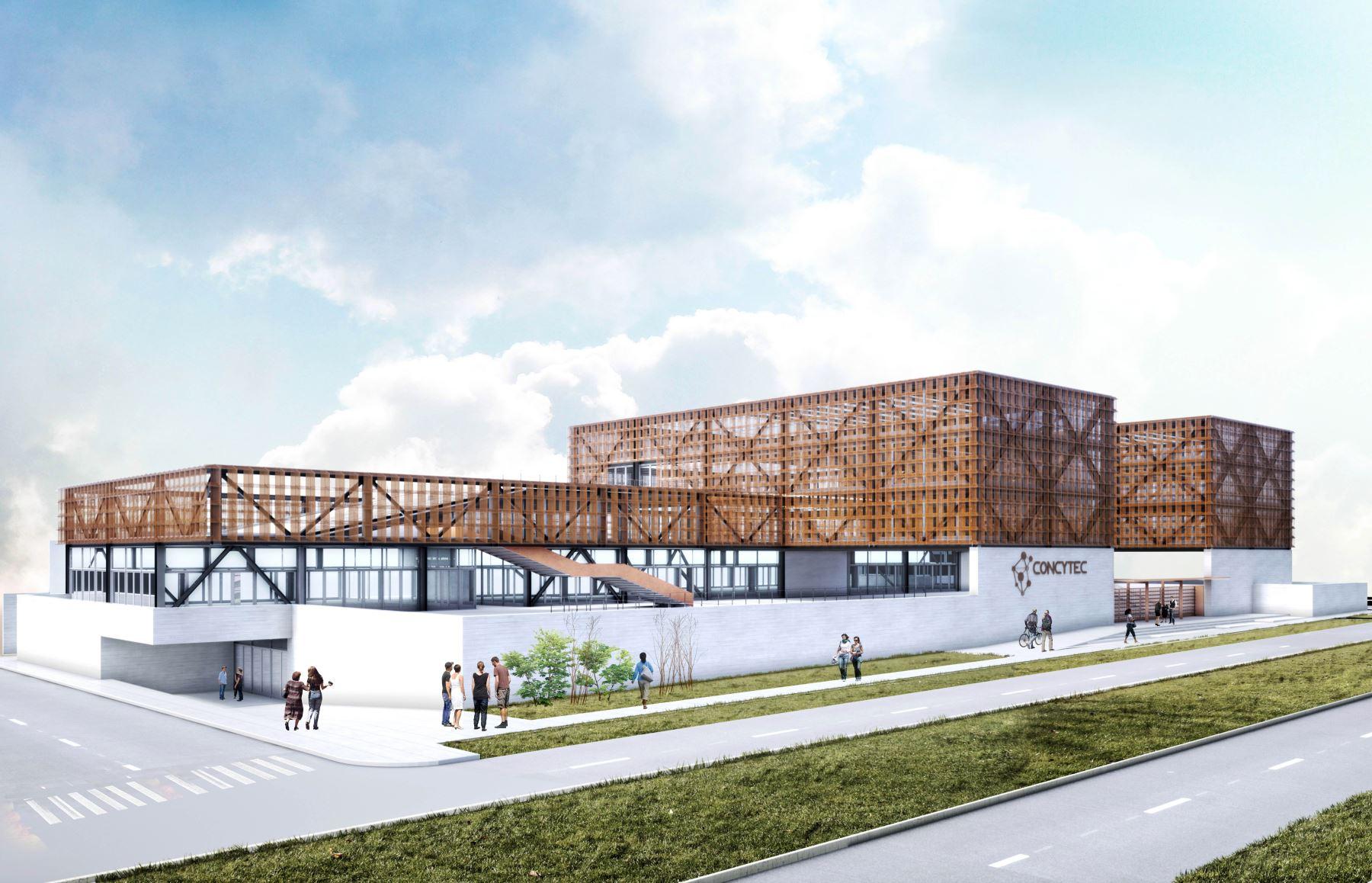 Así será el nuevo local del Concytec según el diseño arquitectónico ganador del concurso internacional convocado por esa institución.