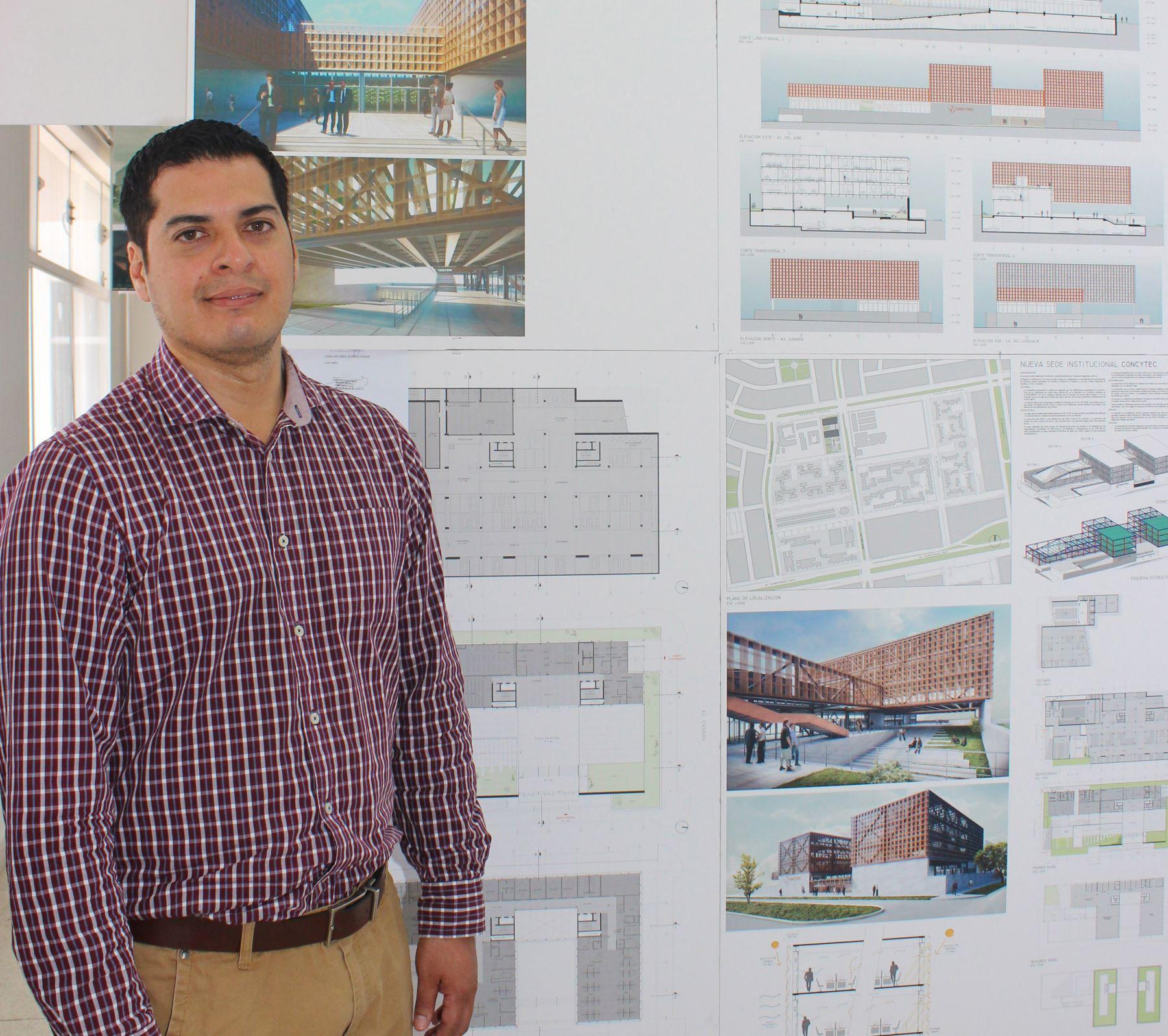 El arquitecto José Antonio Quiroz Farias ganó el concurso para diseñar el nuevo local del Concytec.