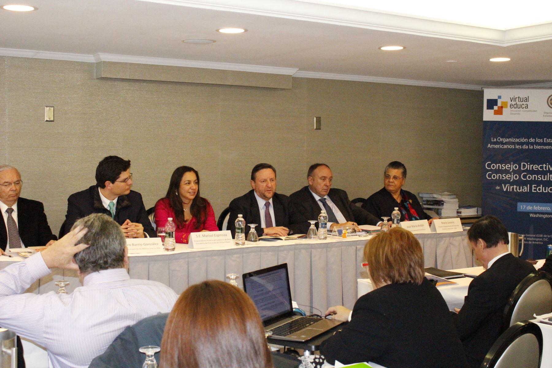 Vicepresidenta del Perú, Marisol Espinoza, participa en la reunión anual del Consejo Consultivo y Consejo Directiva de Virtual Educa, que se realiza en Washington, Estados Unidos. Difusión