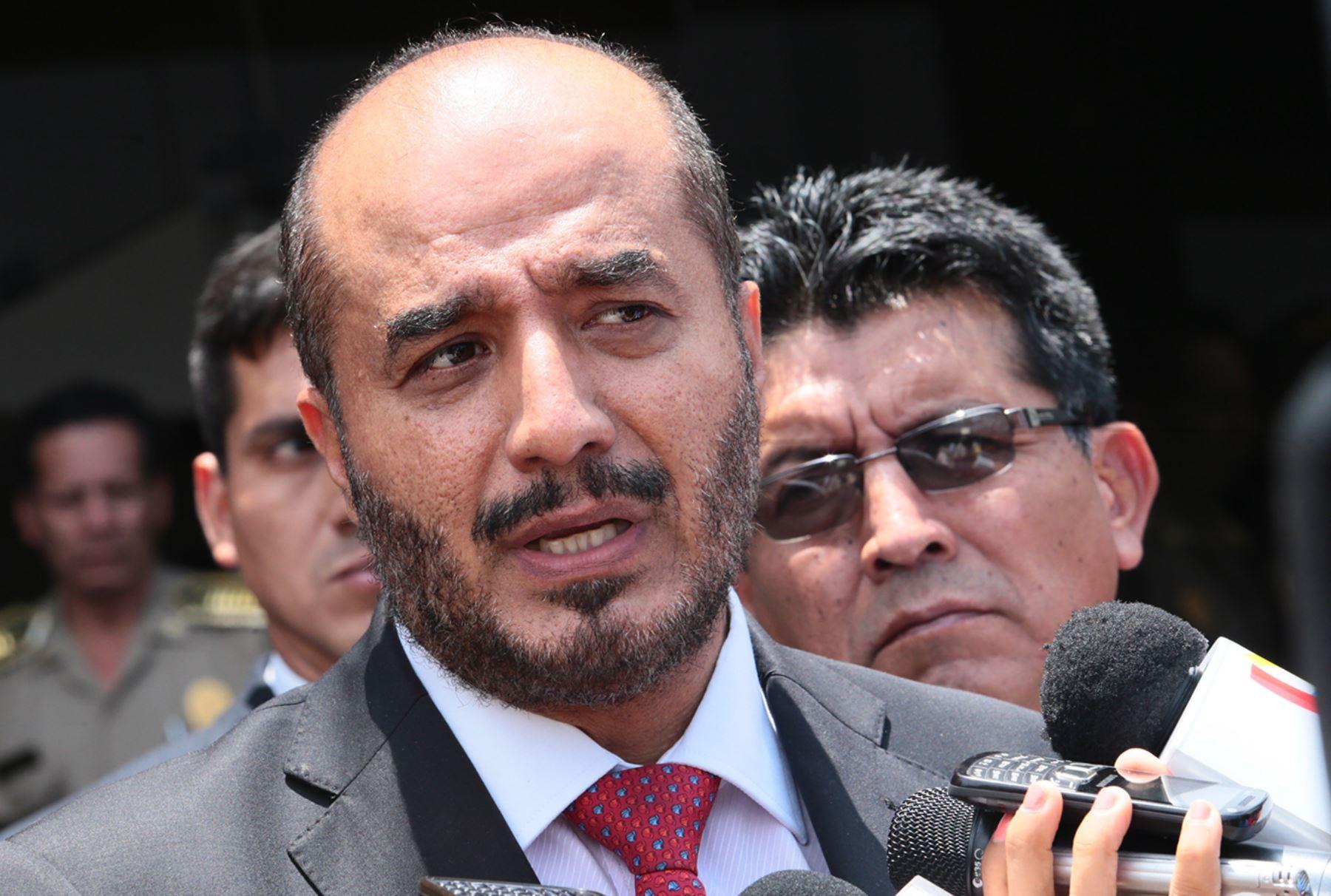 Ministro del Interior, José Luis Pérez Guadalupe. Foto: ANDINA/Carlos Lezama