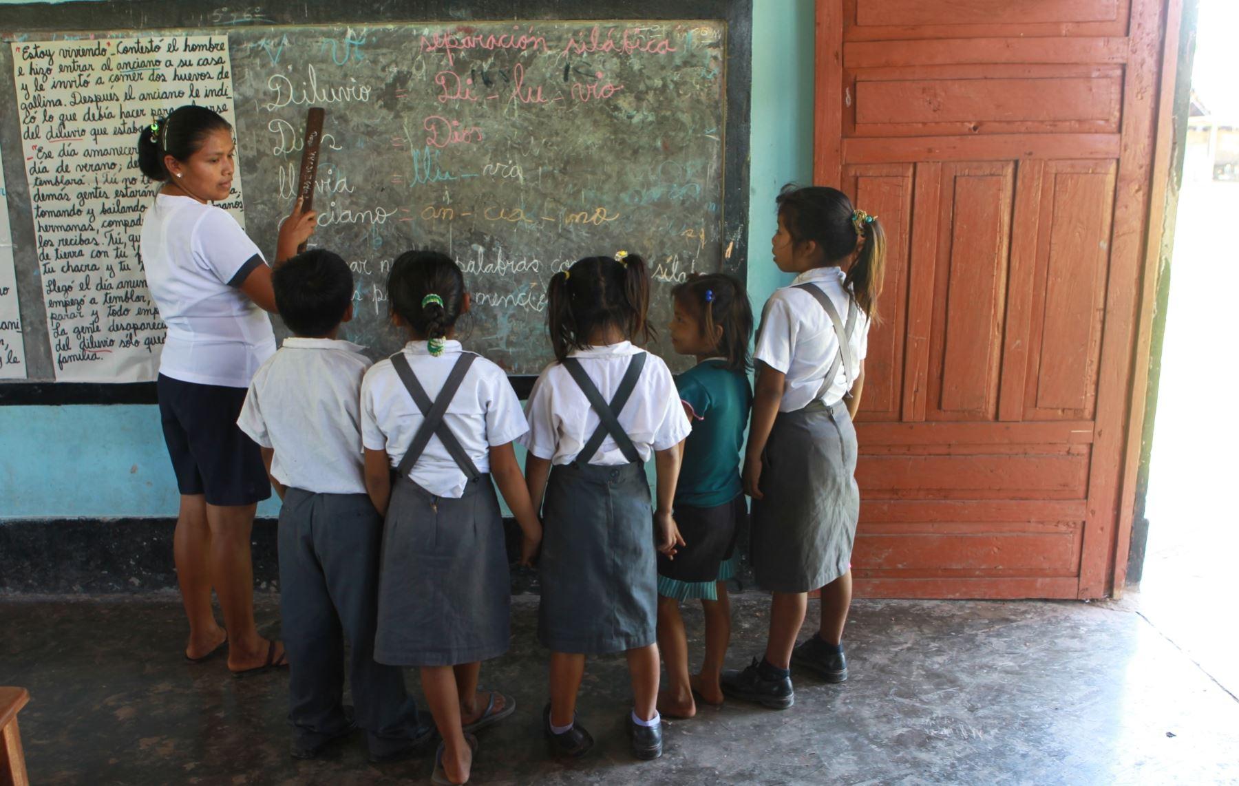El Plan Selva contempla la construcción de escuelas con infraestructura adecuada en las zonas de selva. ANDINA/Archivo