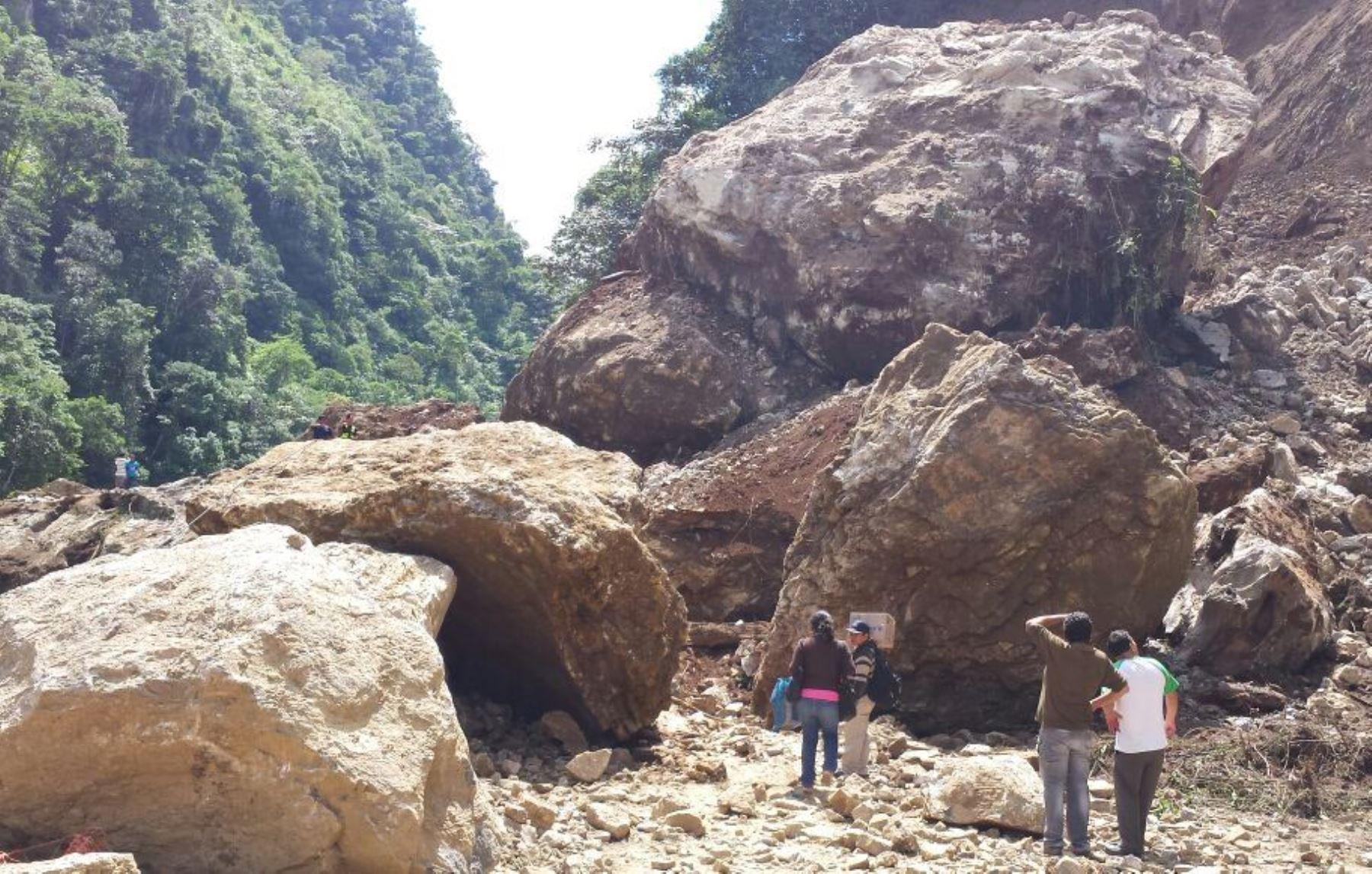 Tránsito en la carretera Huánuco-Tingo María se encuentra interrumpido por derrumbes.