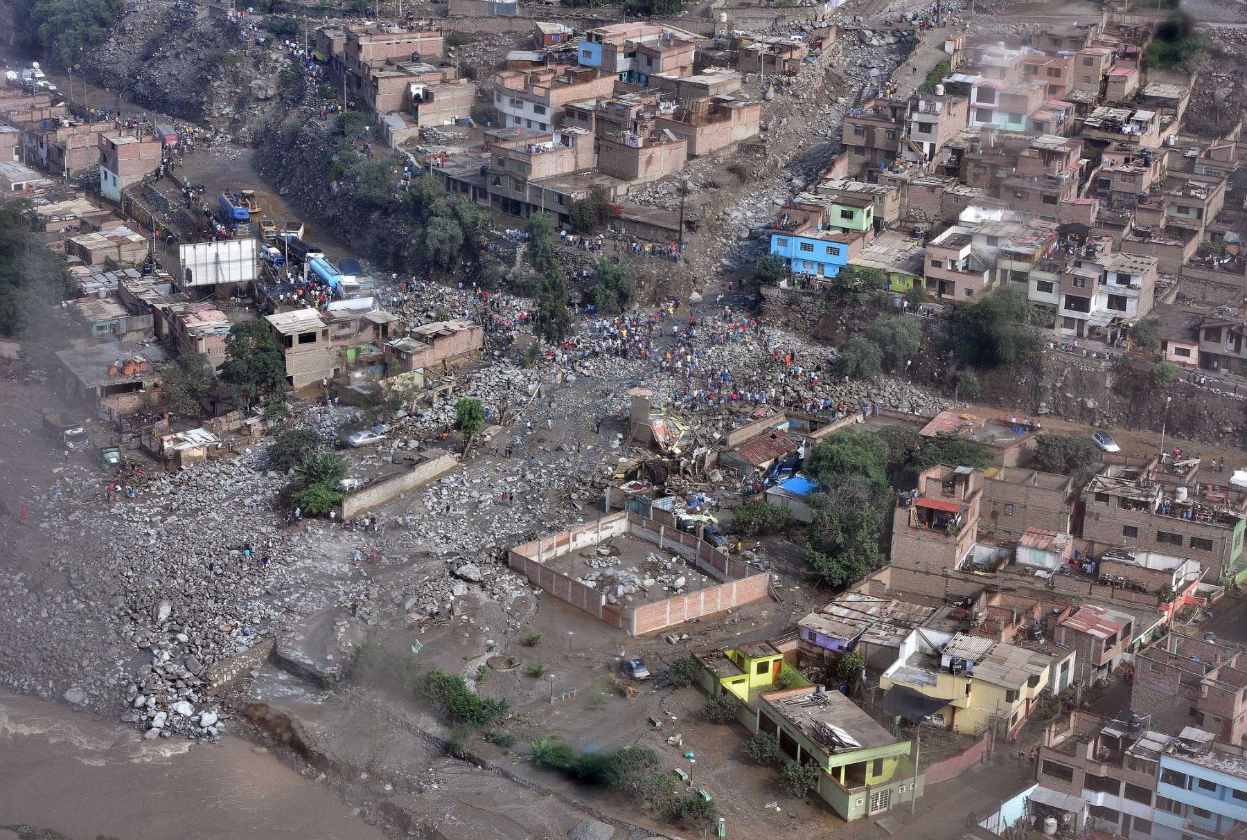 Huaicos en Chosica.Foto:Ministerio del Interior