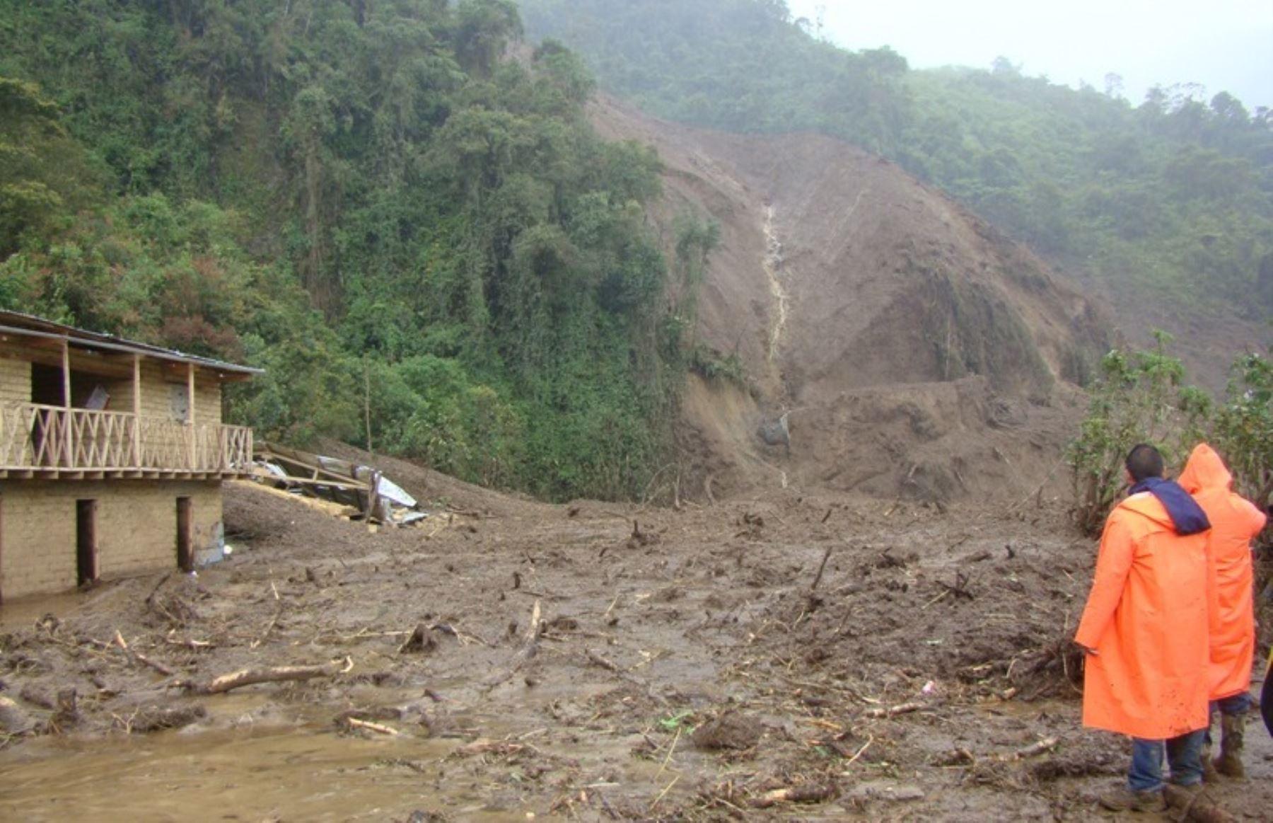 Deslizamiento afecta viviendas en Huancavelica. ANDINA/Archivo