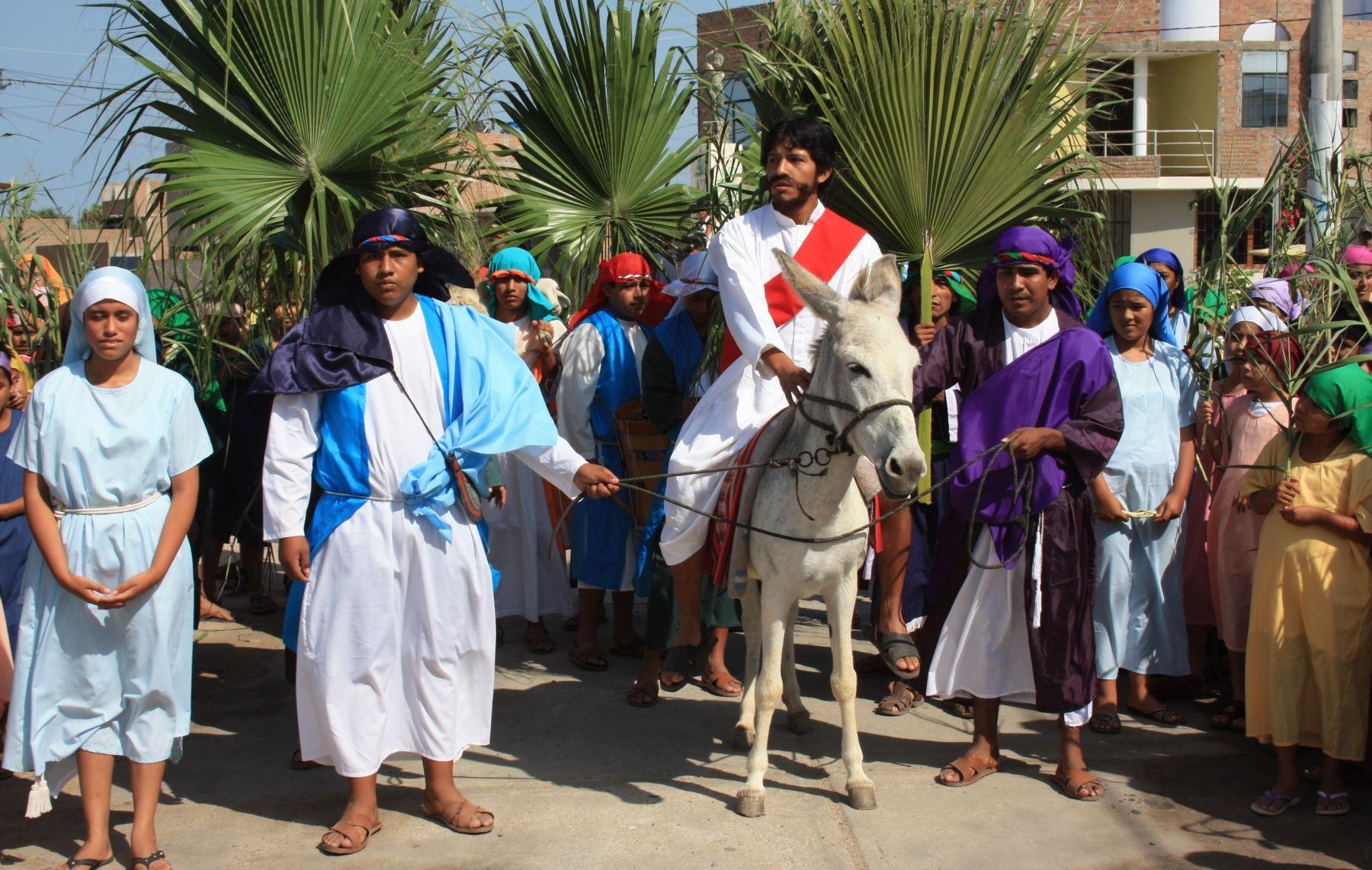 La Semana Santa en Reque es una de las manifestaciones religiosas más tradicionales de Lambayeque. ANDINA/Archivo