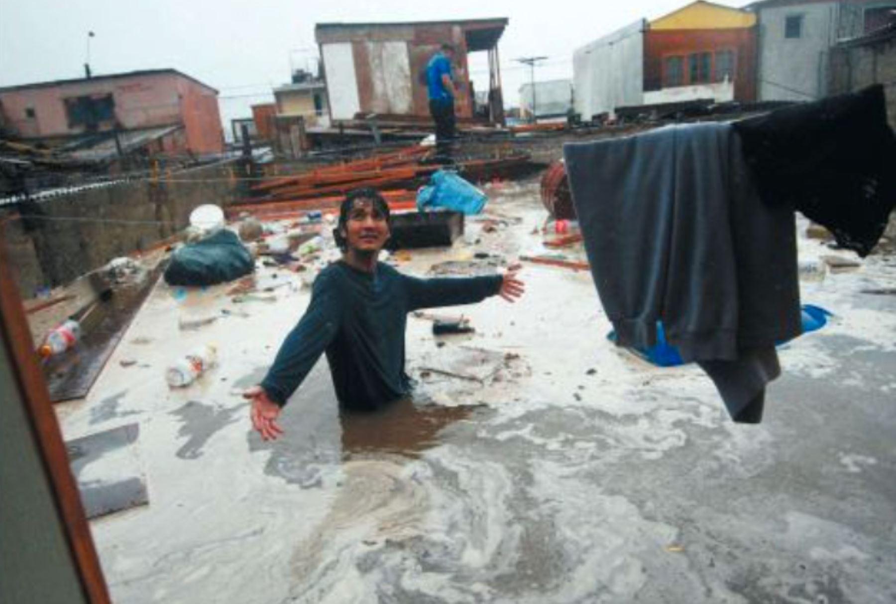 Temporal en Chile. Foto: El Mercurio de Antofagasta.