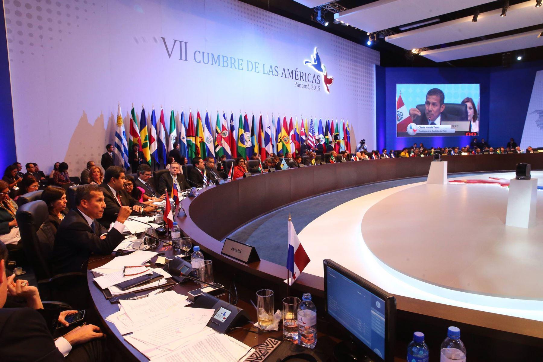 Presidente Ollanta Humala interviene en VII Cumbre de las Américas
