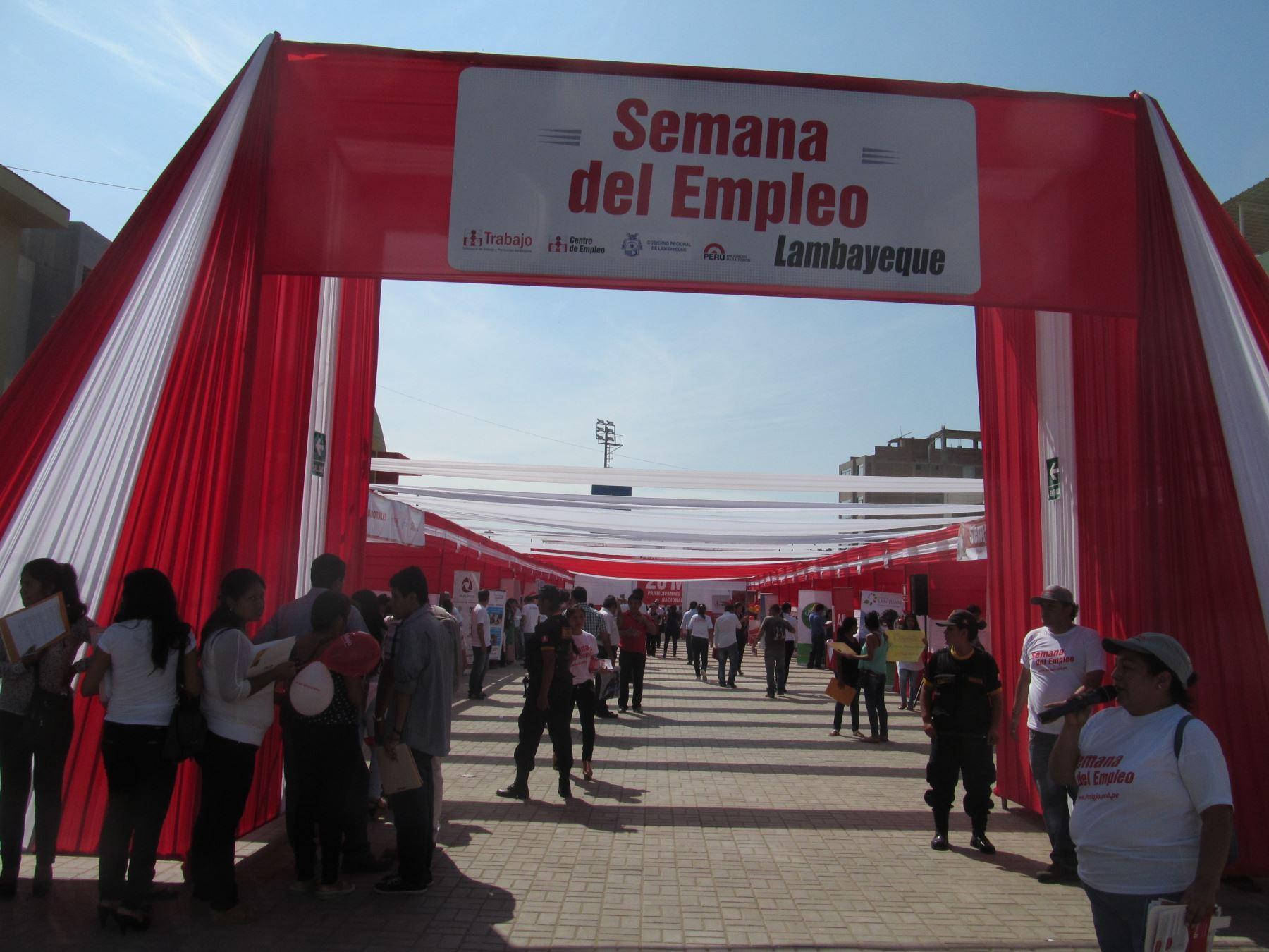 Este 2015 tienen programado efectuar dos ferias laborales descentralizadas en Lambayeque y Ferreñafe