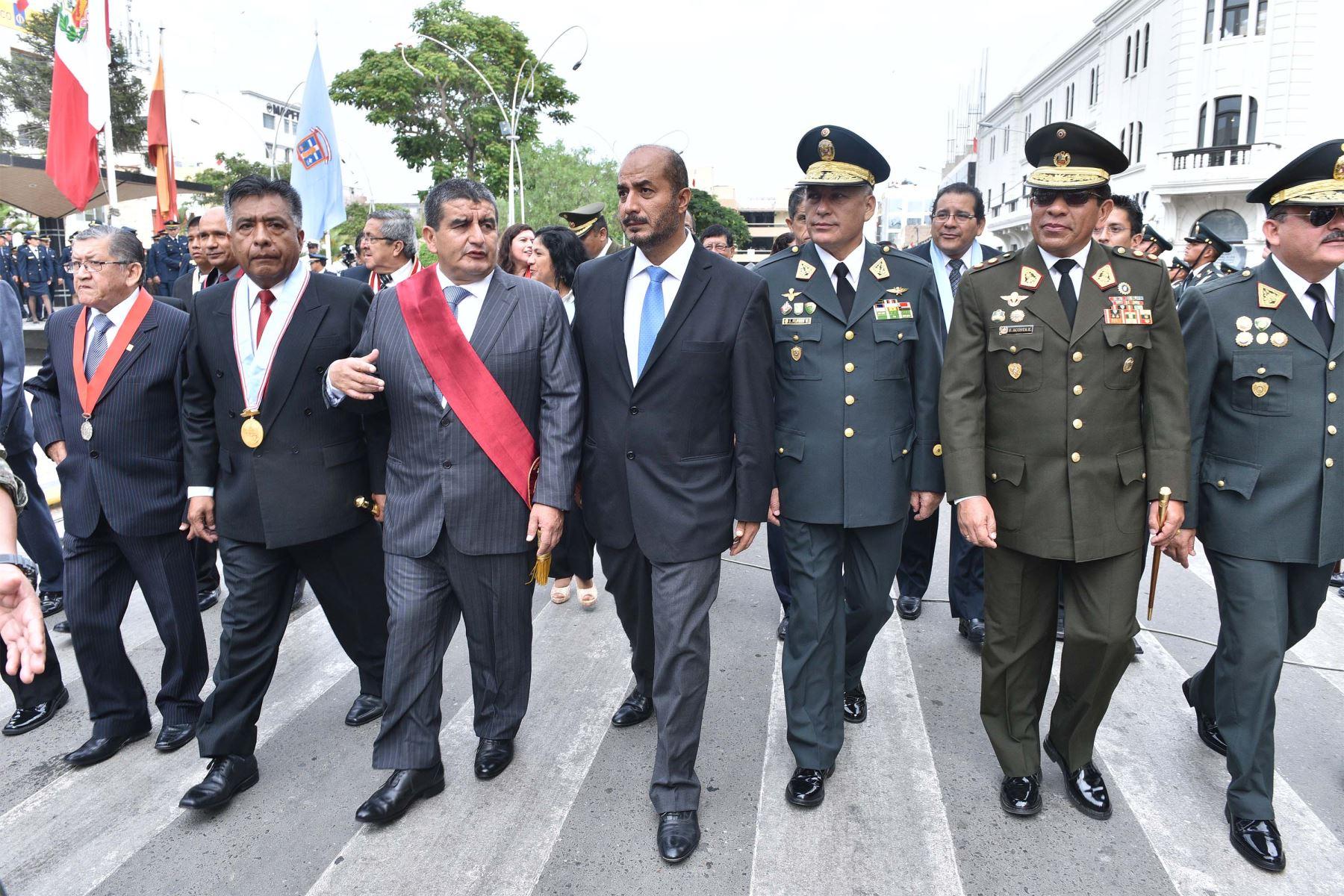 Ministro del Interior, José Luis Pérez Guadalupe, cumplió visita en Trujillo