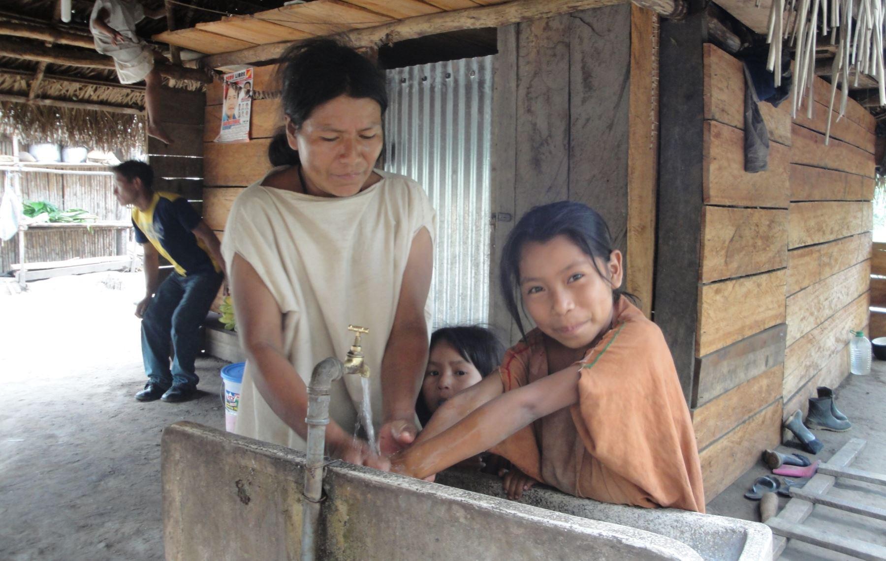Se ejecutarán obras de agua y saneamiento rural. ANDINA/Archivo