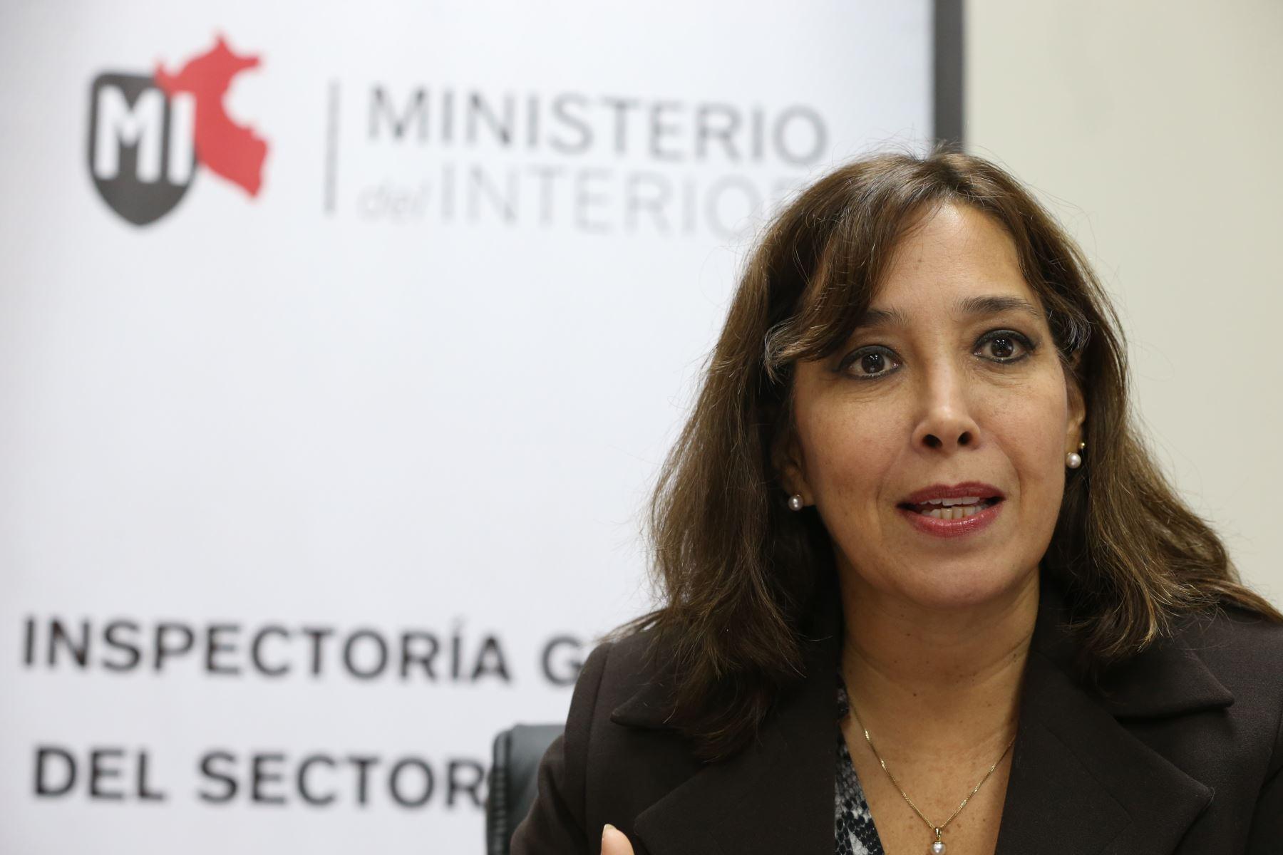 Inspectora General del Ministerio del Interior, Susana Silva. Foto: ANDINA/Archivo.