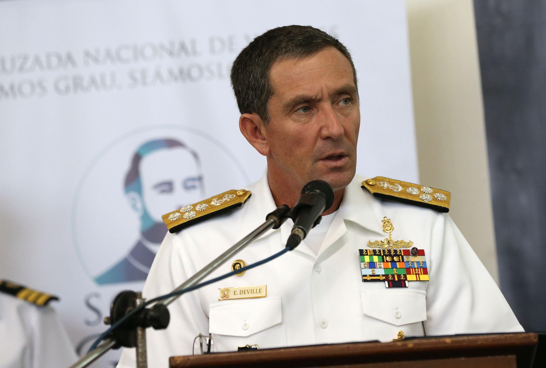 Almirante Edmundo Deville del Campo. ANDINA/Norman Córdova