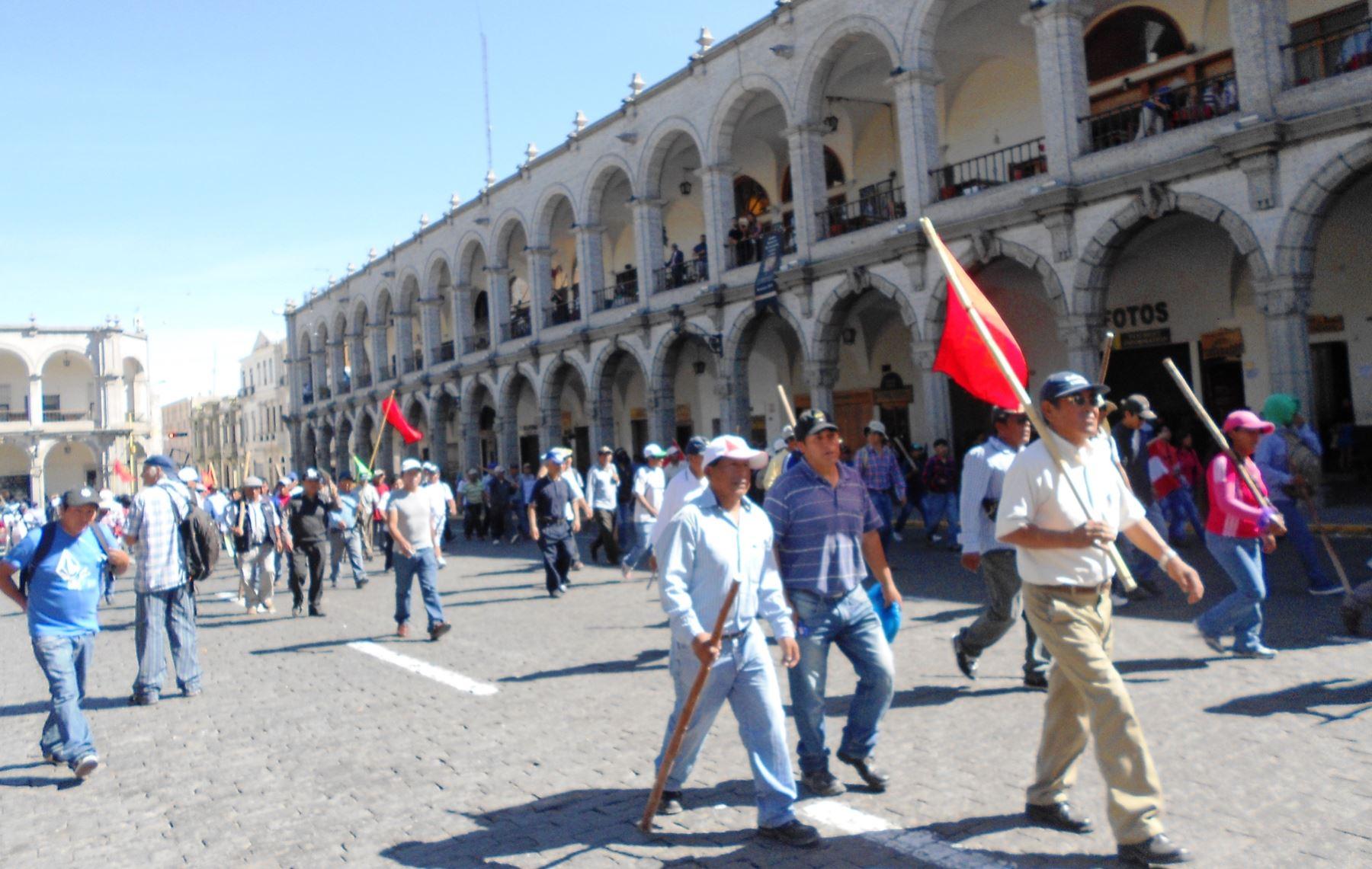 Empresarios de turismo de Arequipa temen por reinicio de protestas. ANDINA/archivo