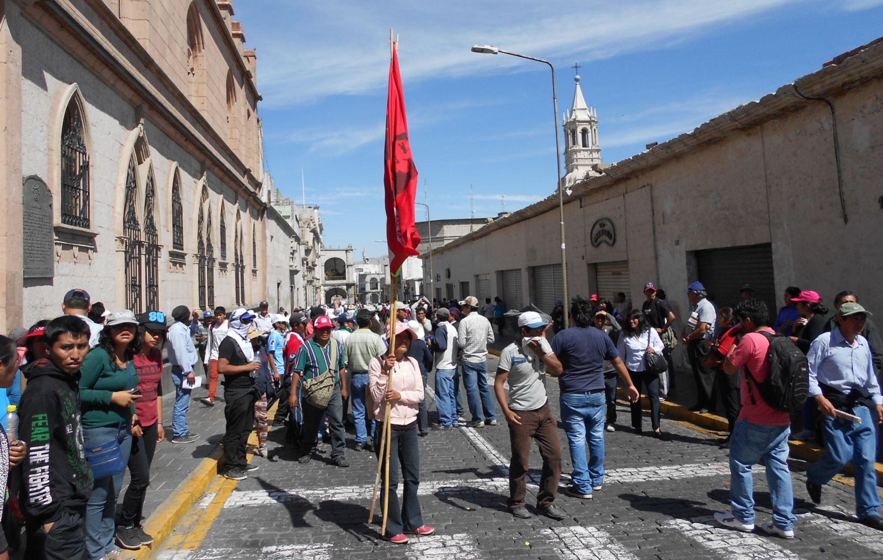 El 30 % de paquetes turísticos a Arequipa fue cancelado por protestas. ANDINA/archivo