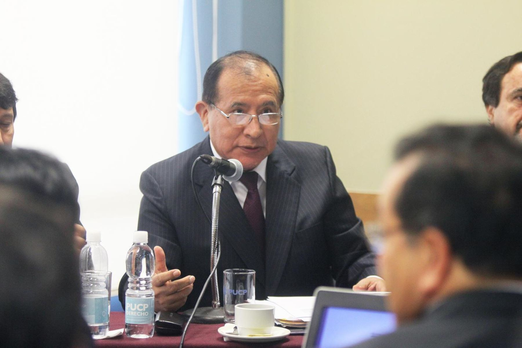 El presidente del Poder Judicial (PJ), Víctor Ticona. Difusión