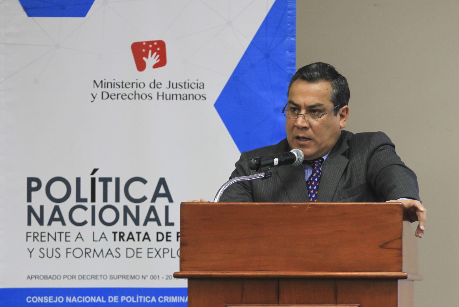 Ministro de Justicia y Derechos Humanos, Gustavo Adrianzén.