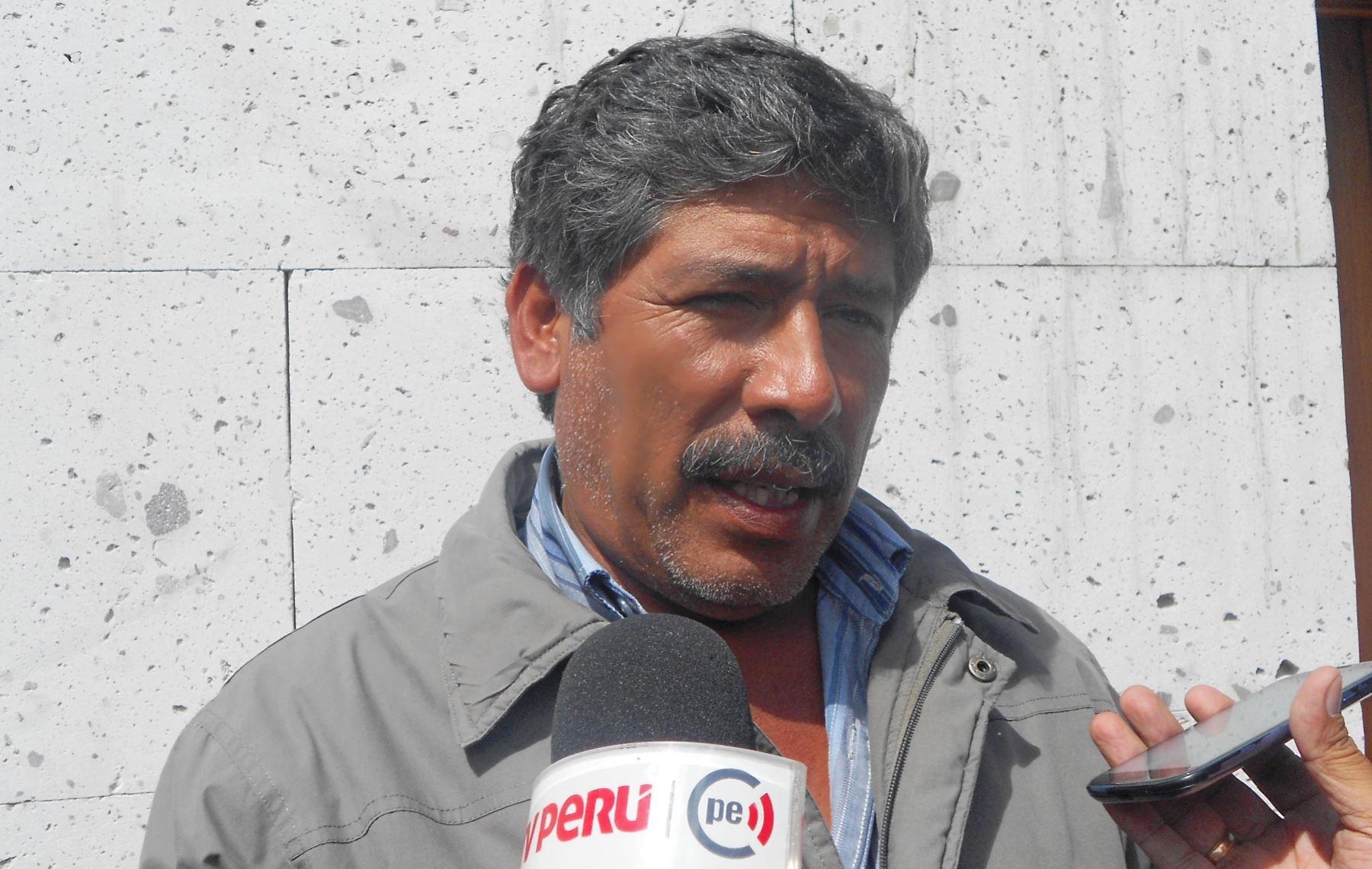 Jesús Cornejo, presidente de la Junta de Usuarios del Valle del Tambo, rindió su testimonio ante la Fiscalía de Crimen Organizado de Arequipa. Foto: ANDINA/Rocío Méndez.