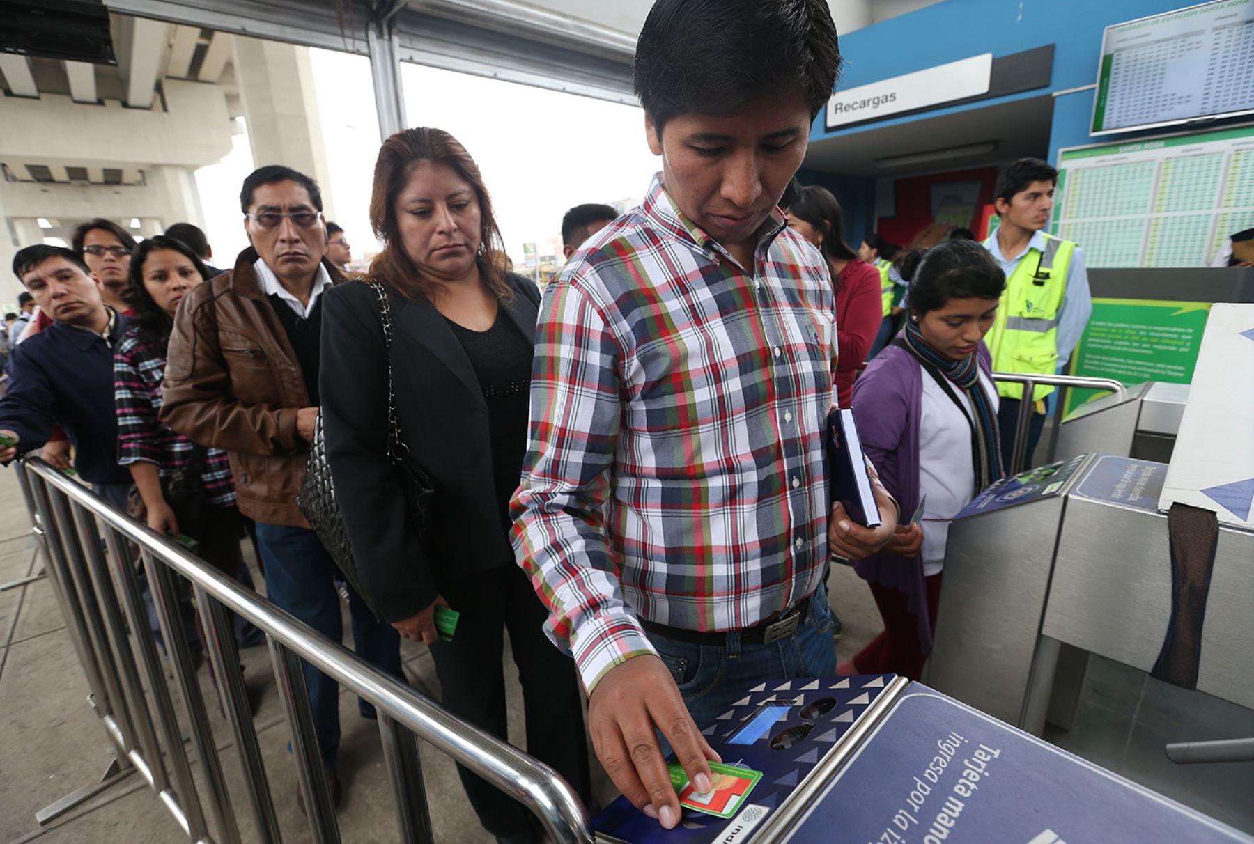 Metro de Lima. Foto: ANDINA/Norman Córdova