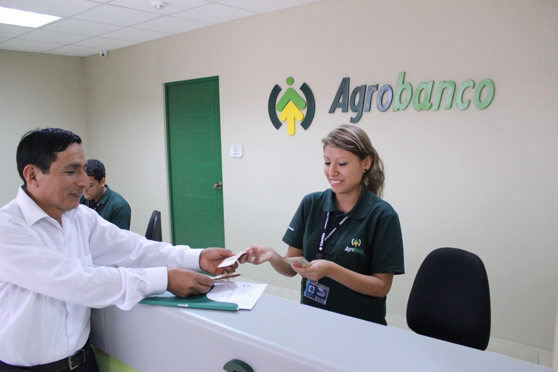 Agencia de Agrobanco. ANDINA/Difusión