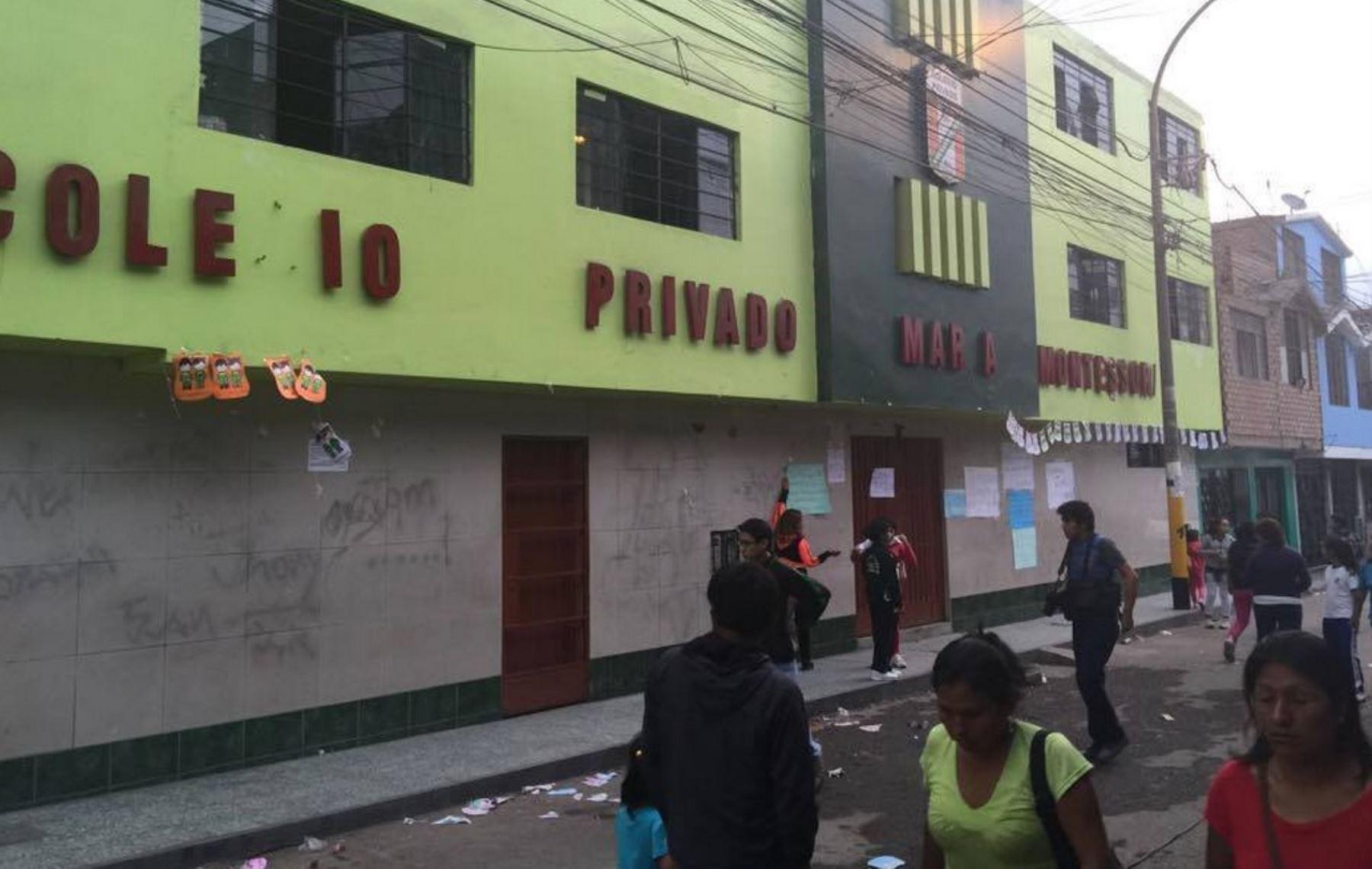 Director de colegio fue victimado por sicarios. Foto: Esther Vargas/Andina