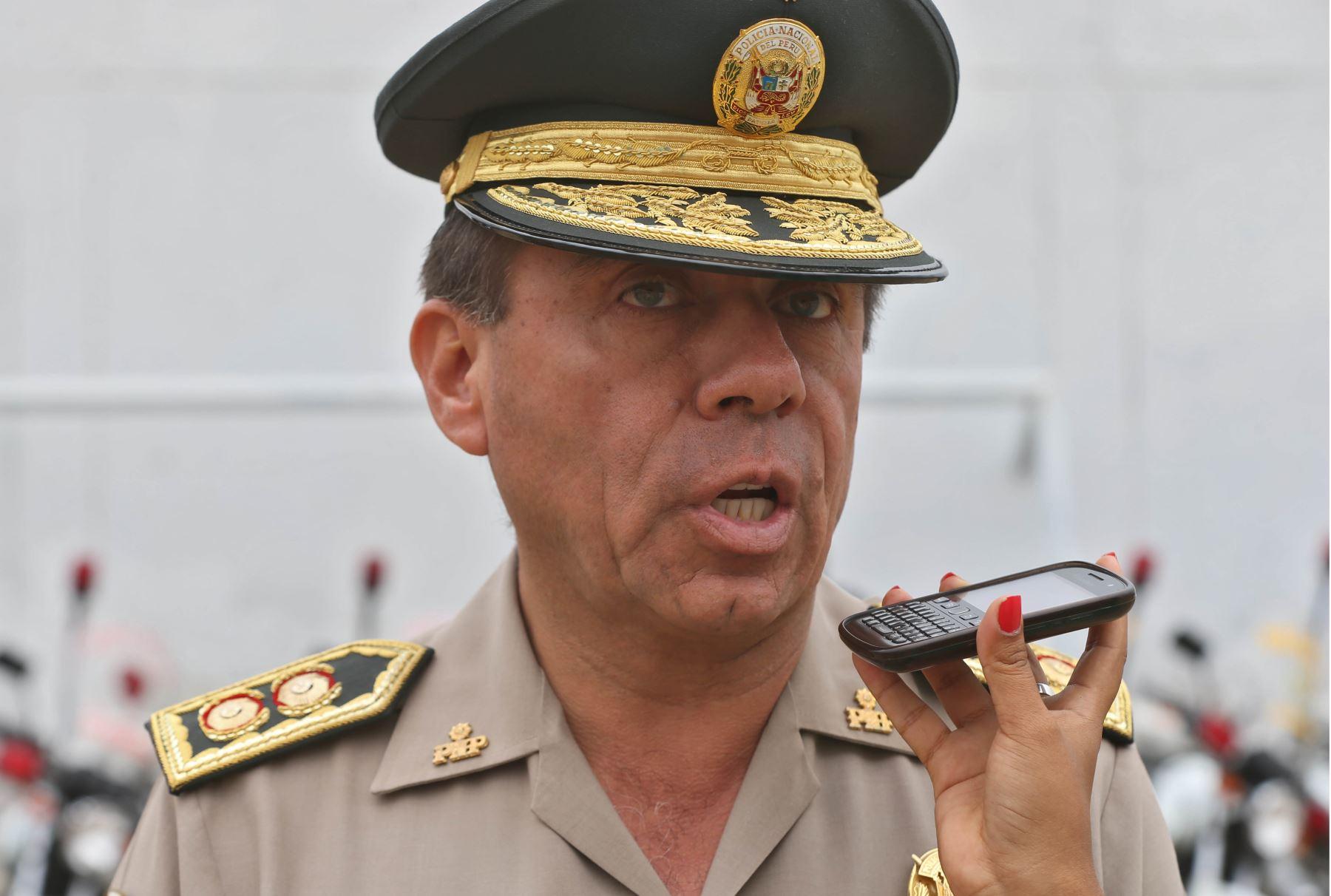 Jefe de la Región Policial Lima, general Salvador Iglesias Paz. ANDINA/Oscar Farje