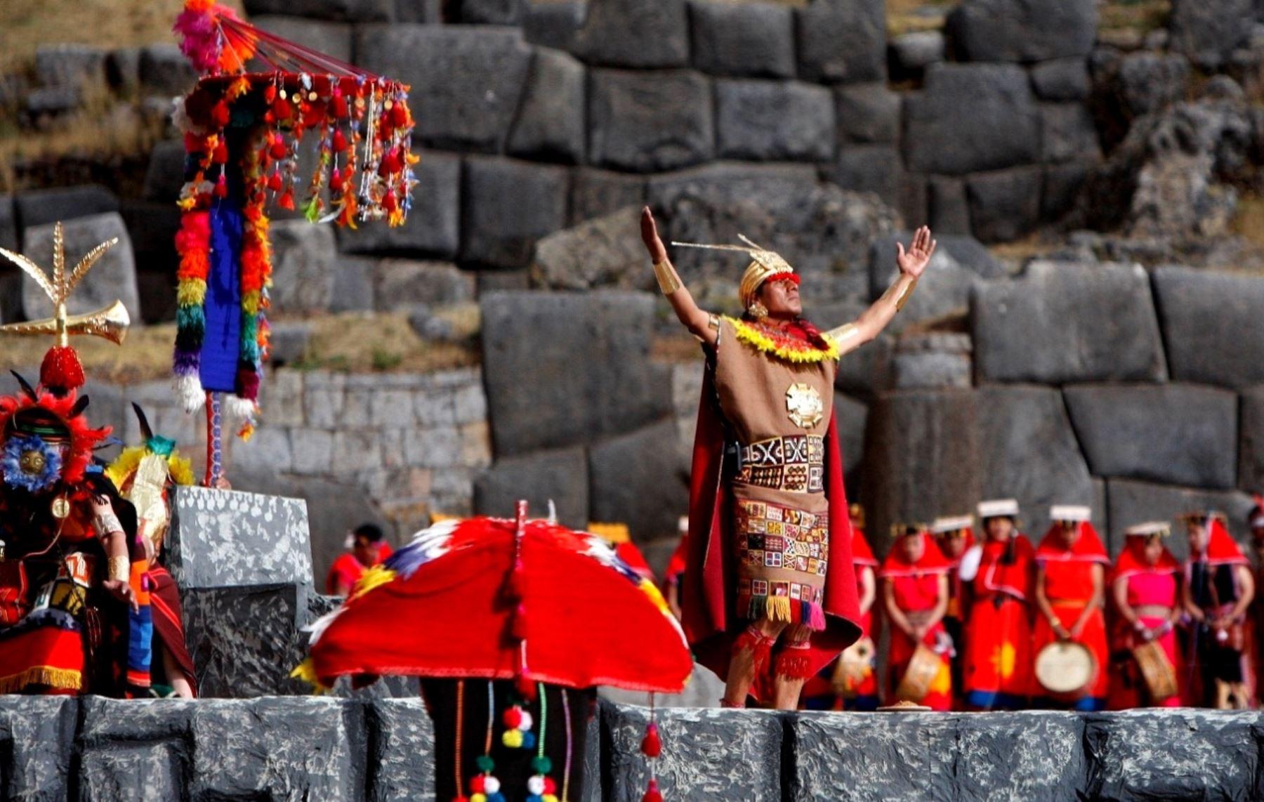 Con gran solemnidad se celebra hoy en la ciudad del Cusco el tradicional Inti Raymi o Fiesta del Sol, la actividad principal en el calendario jubilar de la Ciudad Imperial. ANDINA/Percy Hurtado Santillán