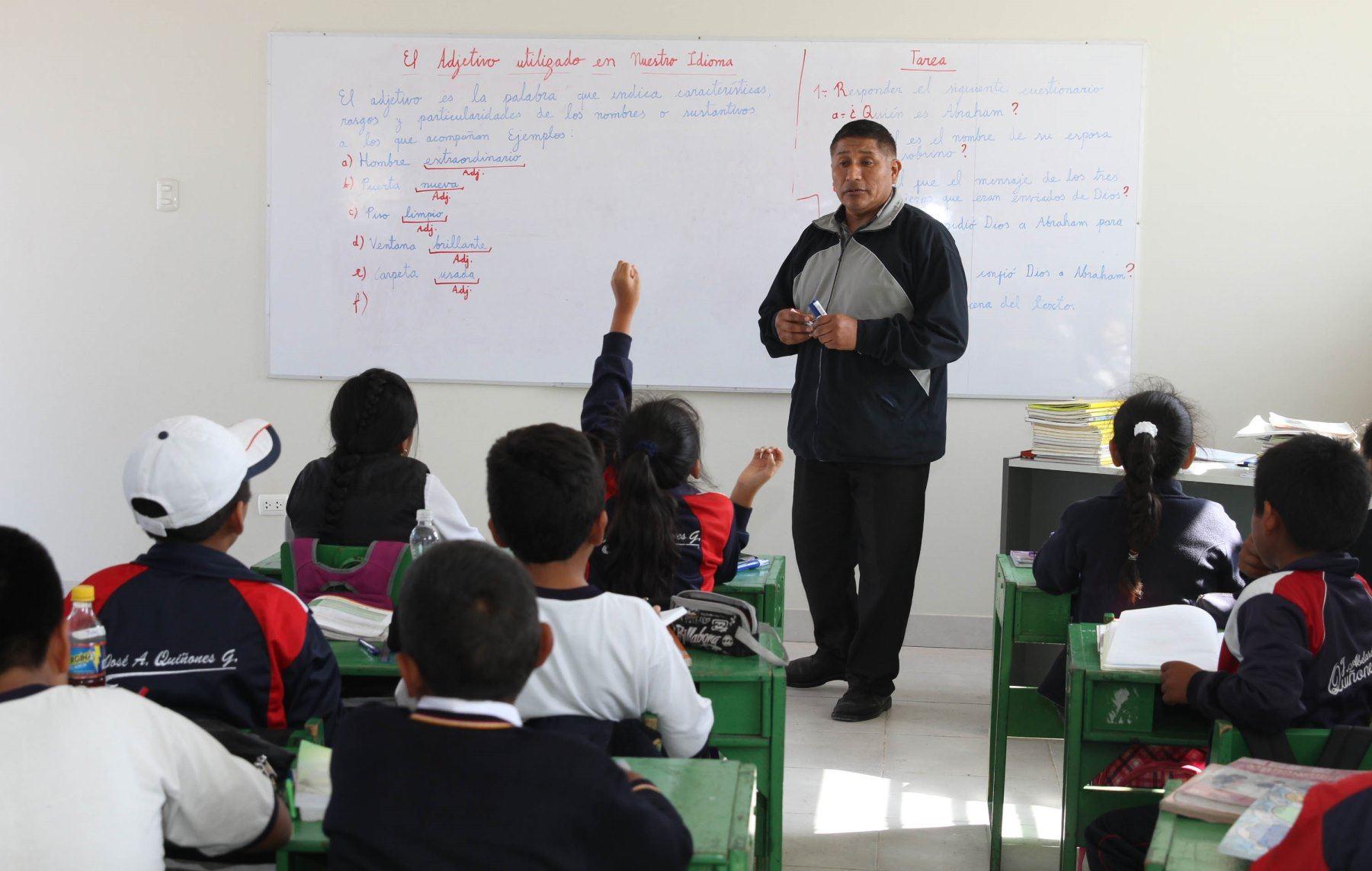 Alumnos deberán recuperar las horas de clases perdidas hasta enero del 2020, recordó la Defensoría del Pueblo. Foto: ANDINA/Difusión