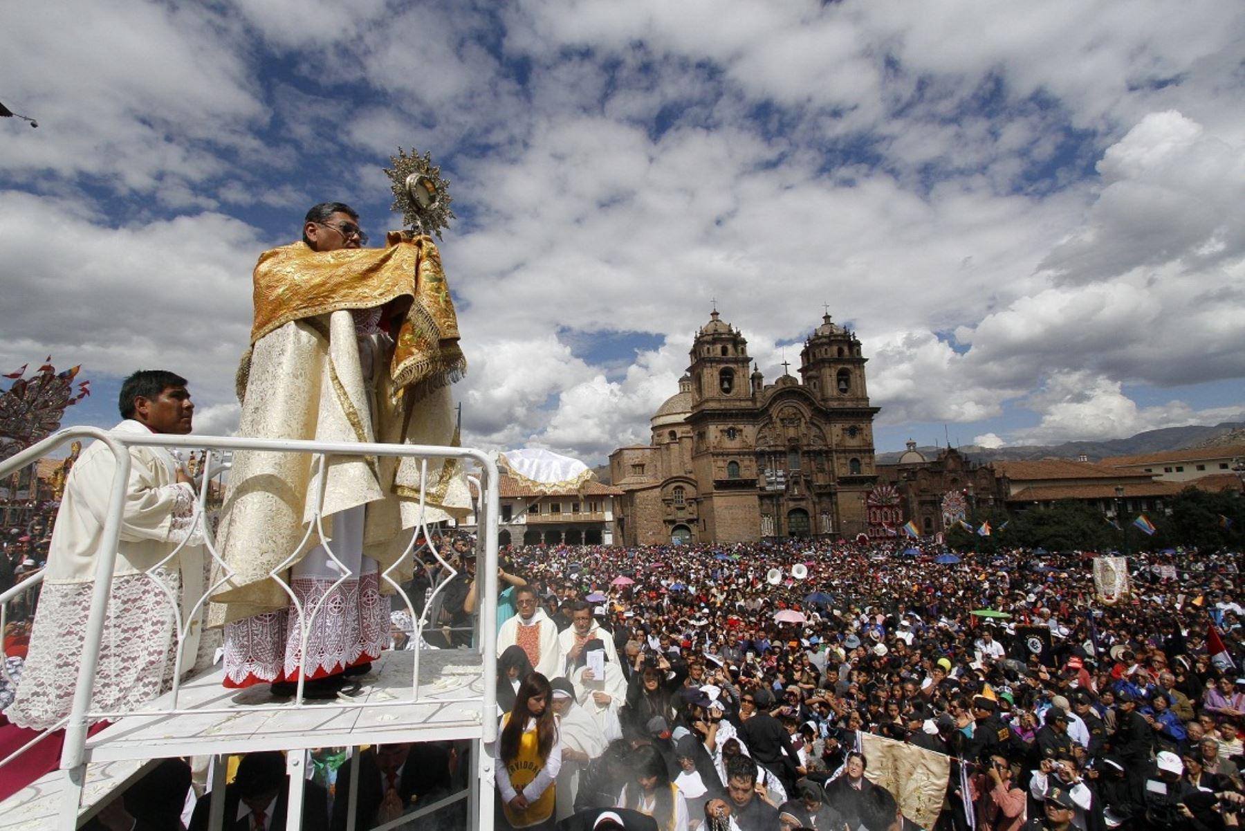 La pandemia de coronavirus obliga a Cusco a suspender tradicional ceremonia del Corpus Christi. ANDINA/Percy Hurtado Santillán