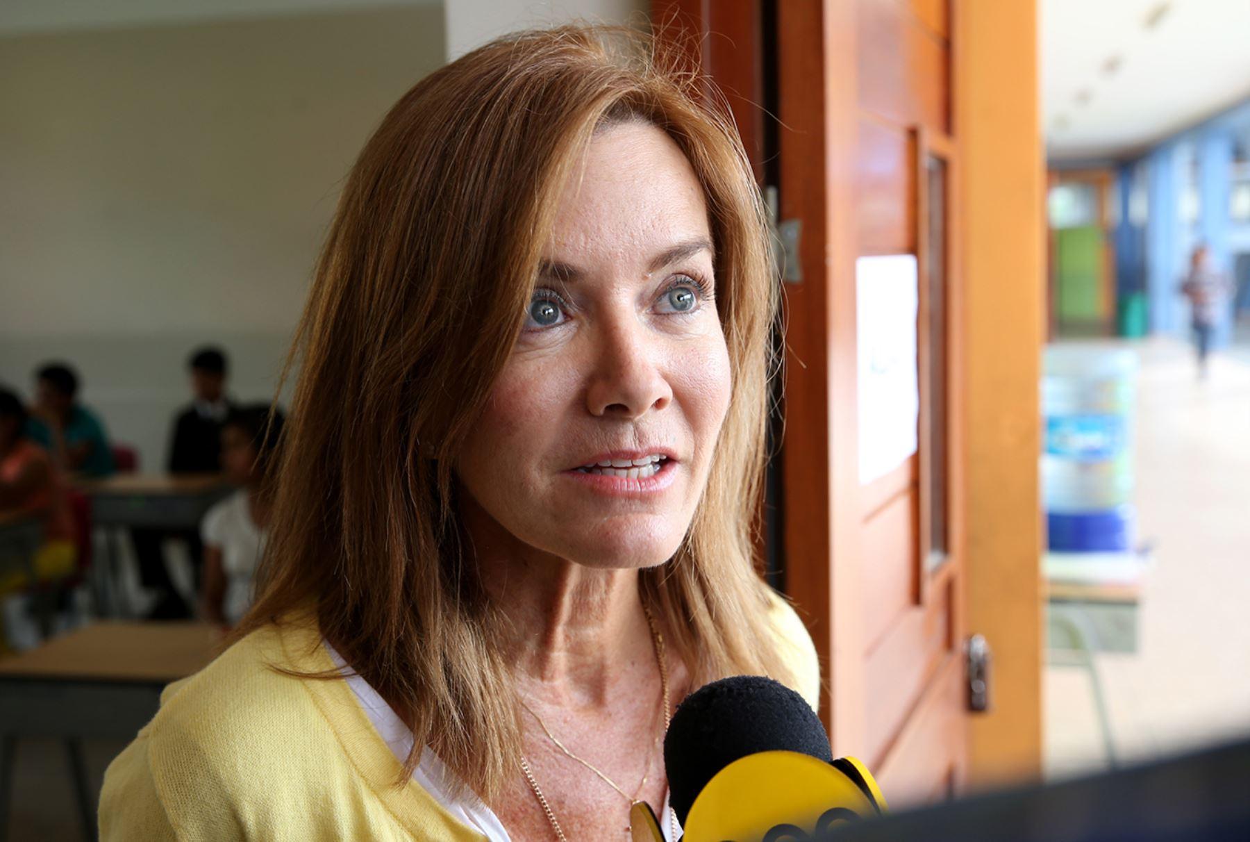 LIMA PERÚ, ENERO 31. Directora General de Educación Básica  COAR Marilu Martens Cortes Foto: ANDINA/Norman Córdova