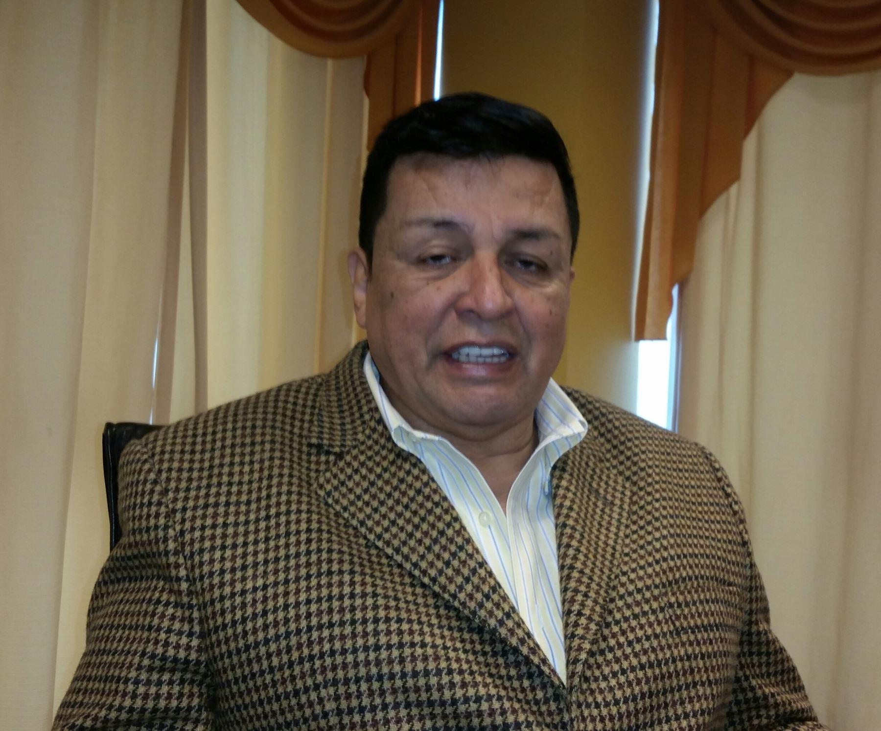 Líder del Partido Vamos Perú y alcalde de la Municipalidad Provincial del Callao, Juan Sotomayor García. ANDINA